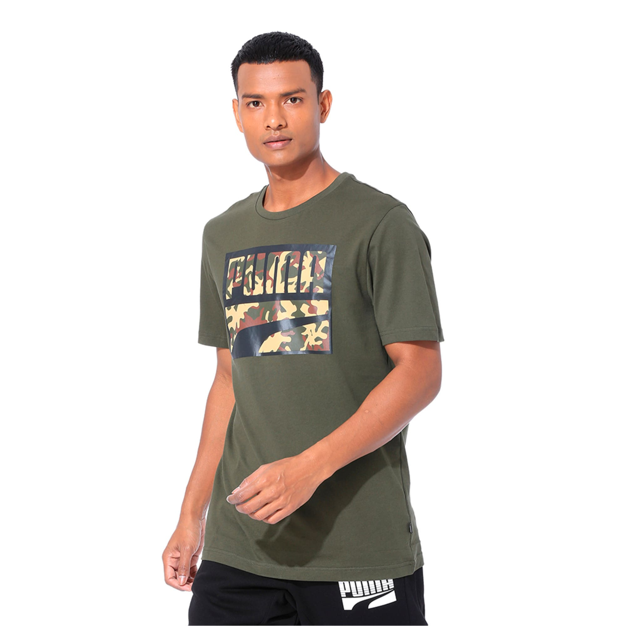 Thumbnail 1 of Rebel Camo Filled Men's Tee, Forest Night, medium-IND