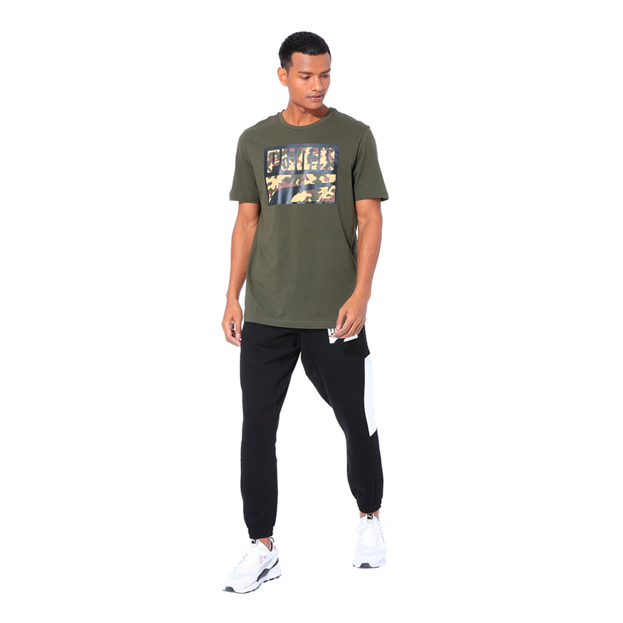 Thumbnail 3 of Rebel Camo Filled Men's Tee, Forest Night, medium-IND