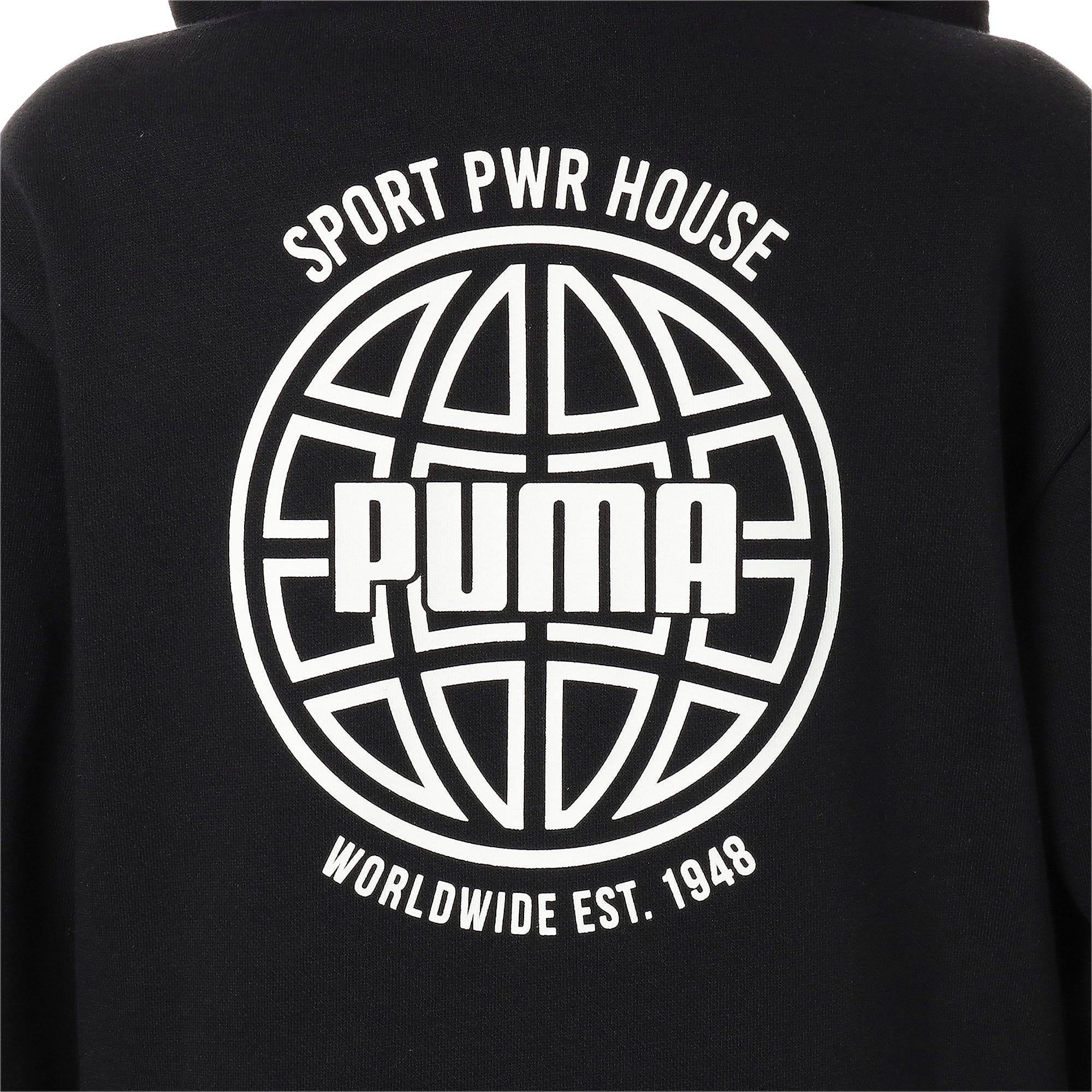 Thumbnail 9 of キッズ アルファ グラフィック フルジップ FL, Puma Black, medium-JPN