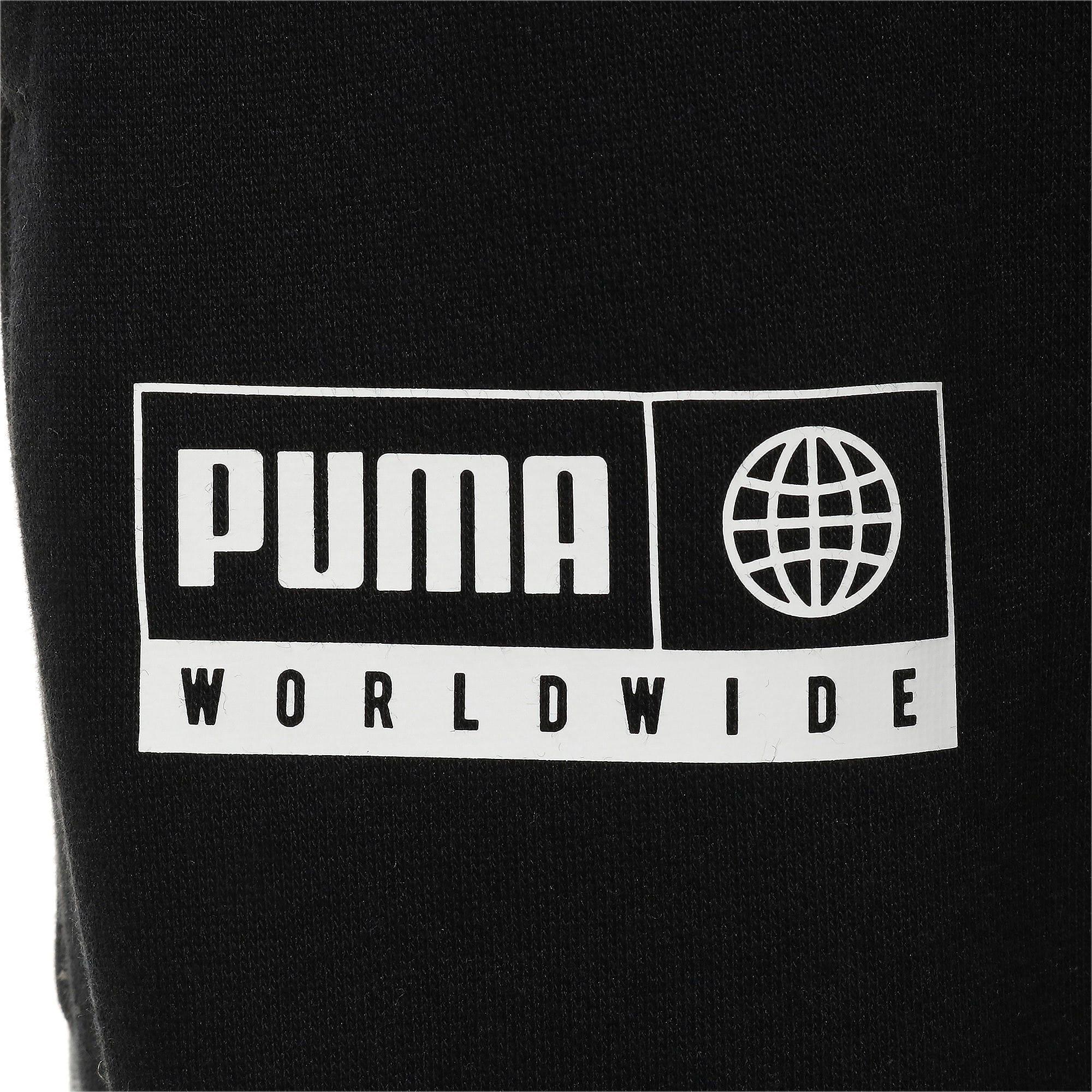 Thumbnail 7 of キッズ アルファ スウェット パンツ FL, Puma Black, medium-JPN