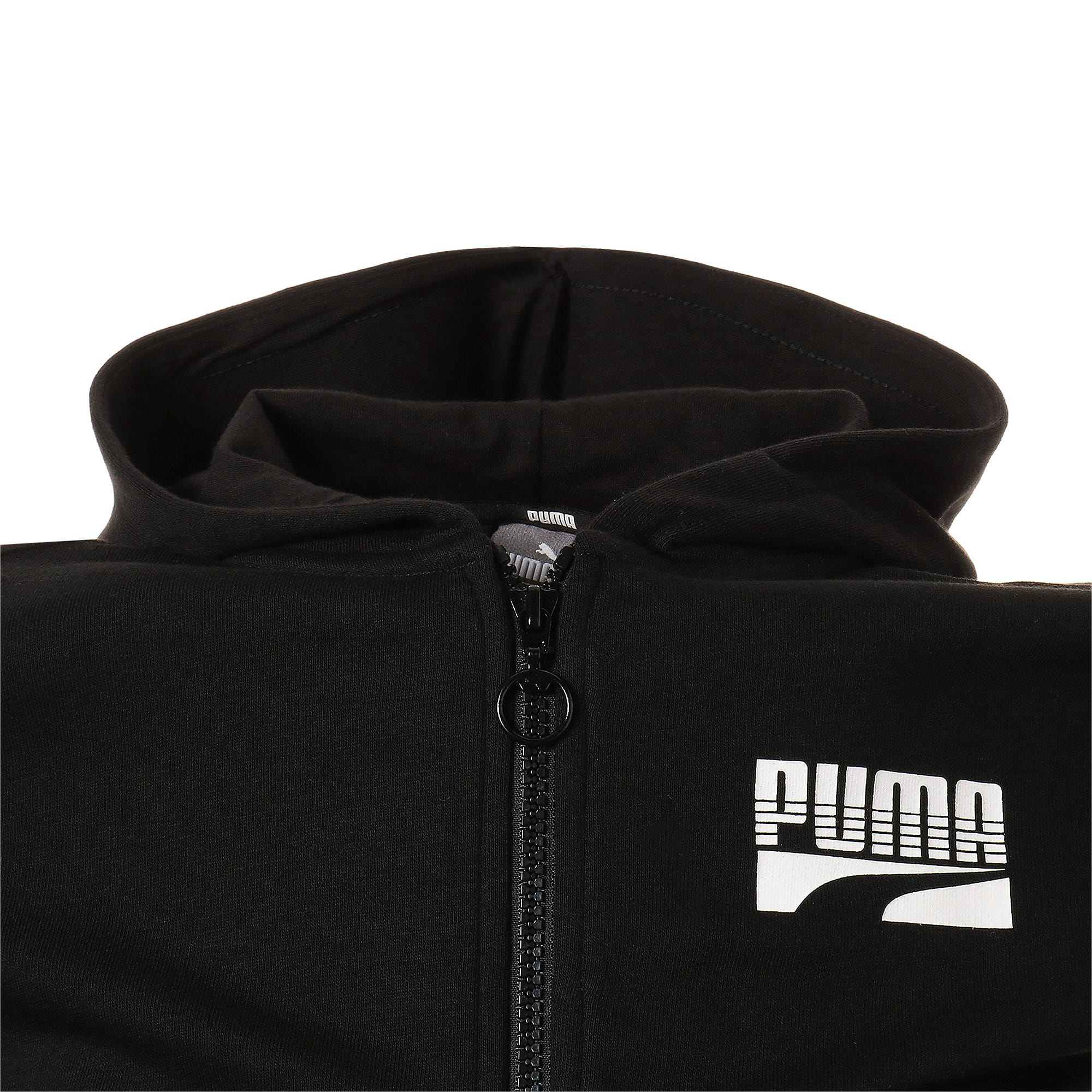 Thumbnail 7 of キッズ REBEL ボールド フルジップTR, Puma Black, medium-JPN
