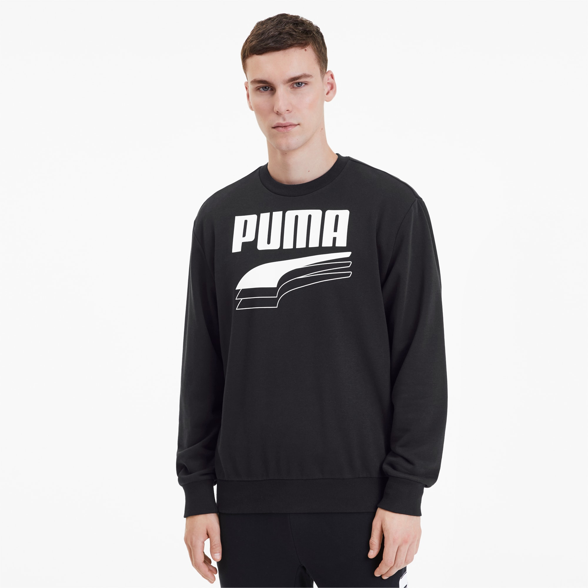 black puma crew neck