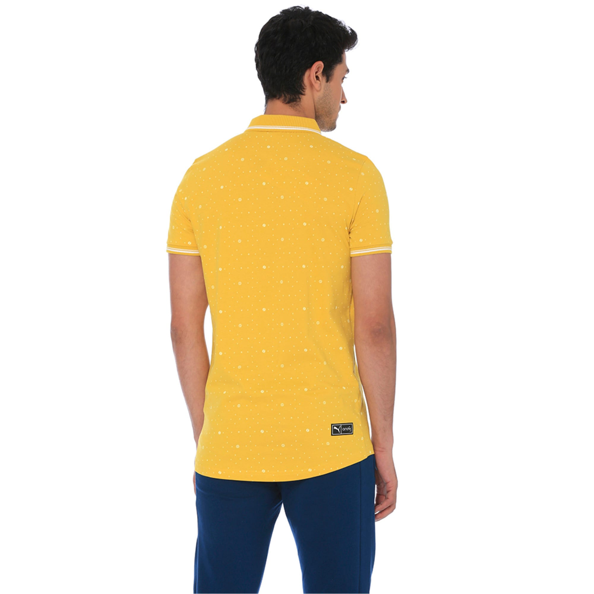 Thumbnail 5 of one8 AOP Men's Printed Polo, Sulphur, medium-IND