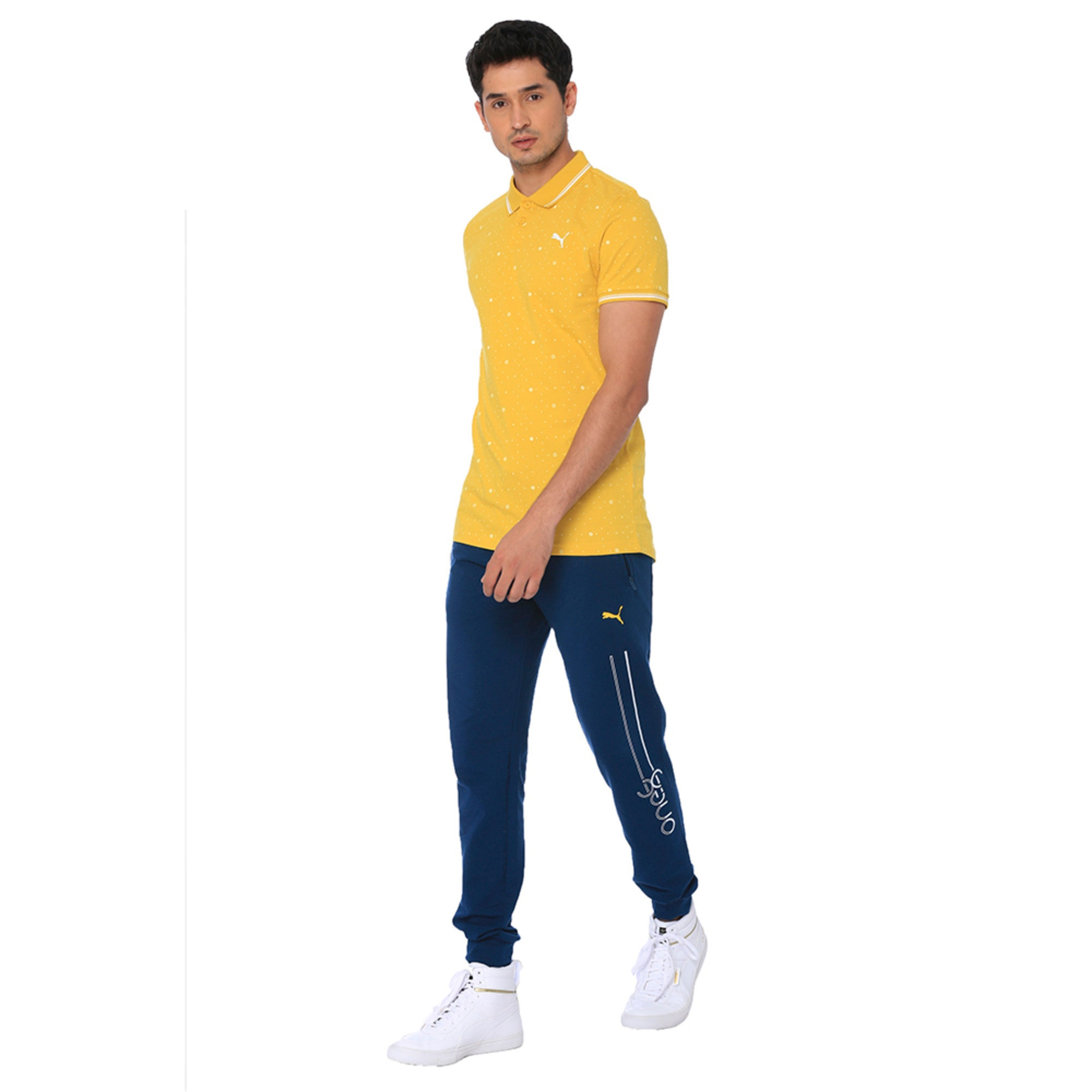 Thumbnail 1 of one8 AOP Men's Printed Polo, Sulphur, medium-IND