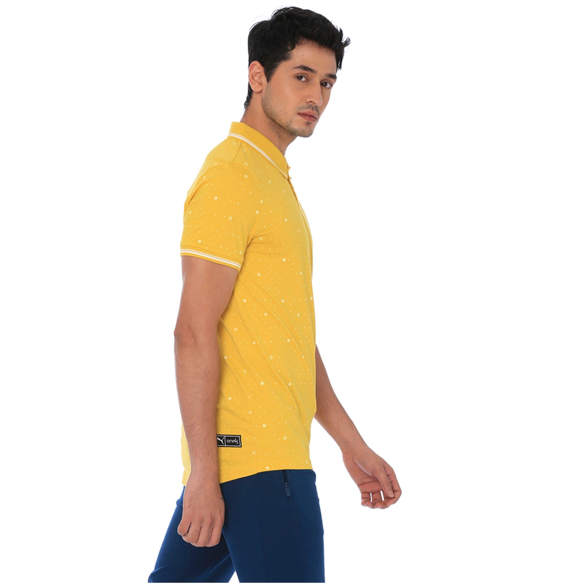 Thumbnail 2 of one8 AOP Men's Printed Polo, Sulphur, medium-IND