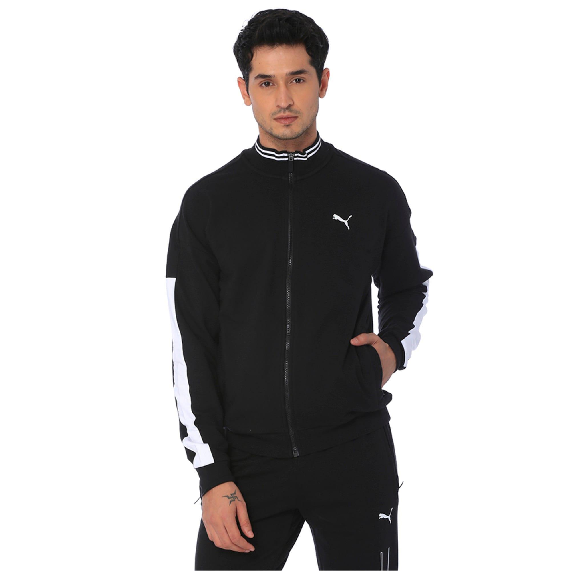 Thumbnail 4 of one8 Men's Knitted Track Jacket, Puma Black, medium-IND