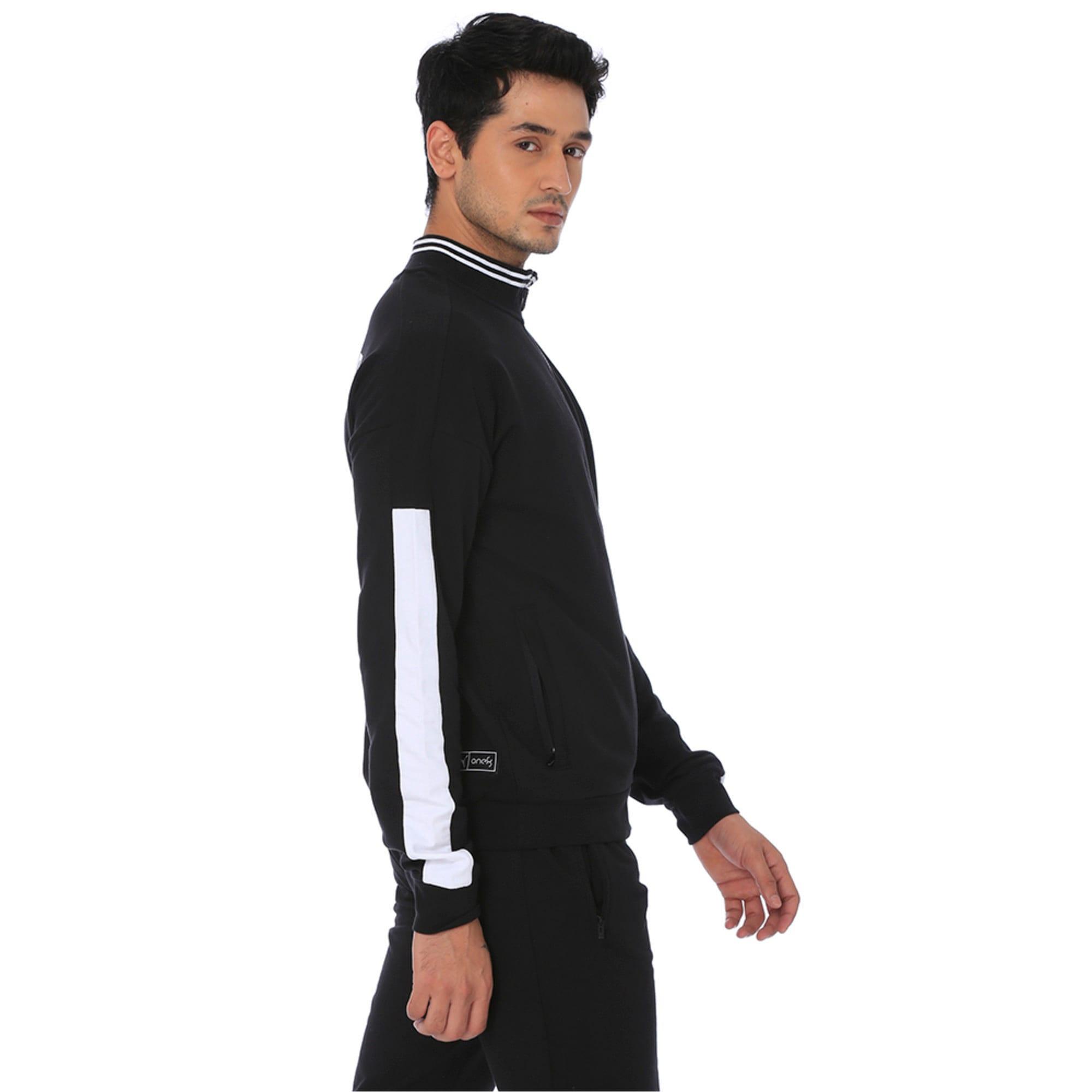 Thumbnail 2 of one8 Men's Knitted Track Jacket, Puma Black, medium-IND