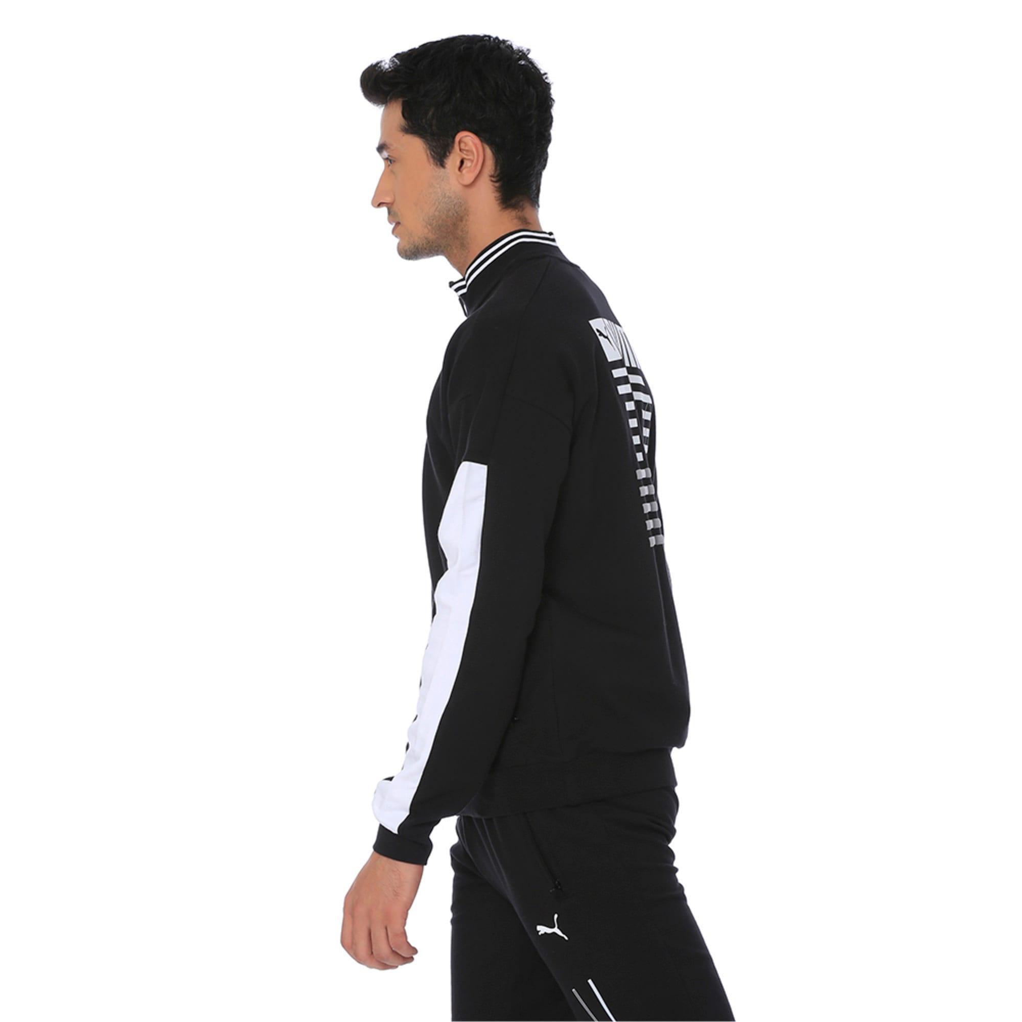 Thumbnail 3 of one8 Men's Knitted Track Jacket, Puma Black, medium-IND
