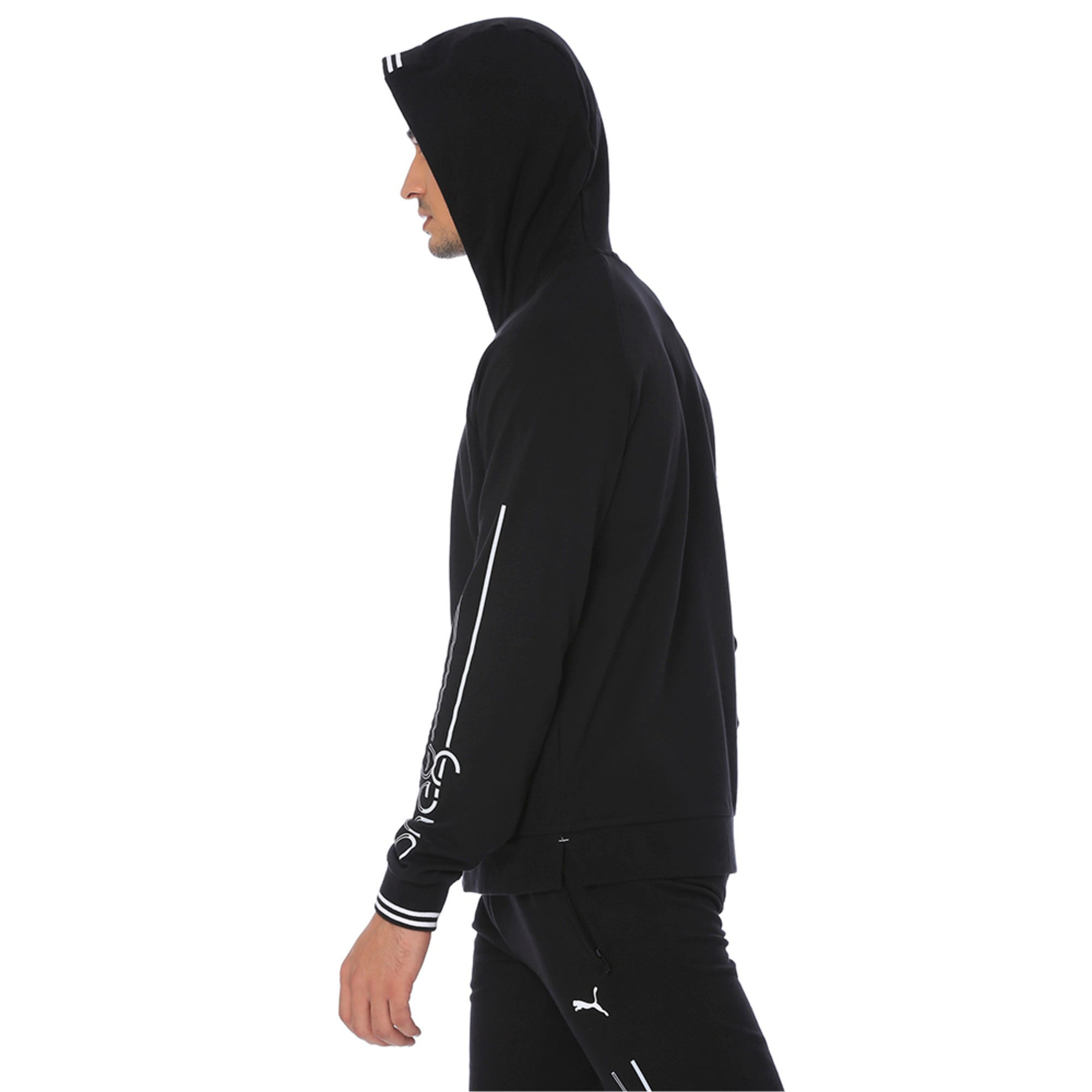 Thumbnail 2 of one8 Men's Hooded Track Jacket, Puma Black, medium-IND