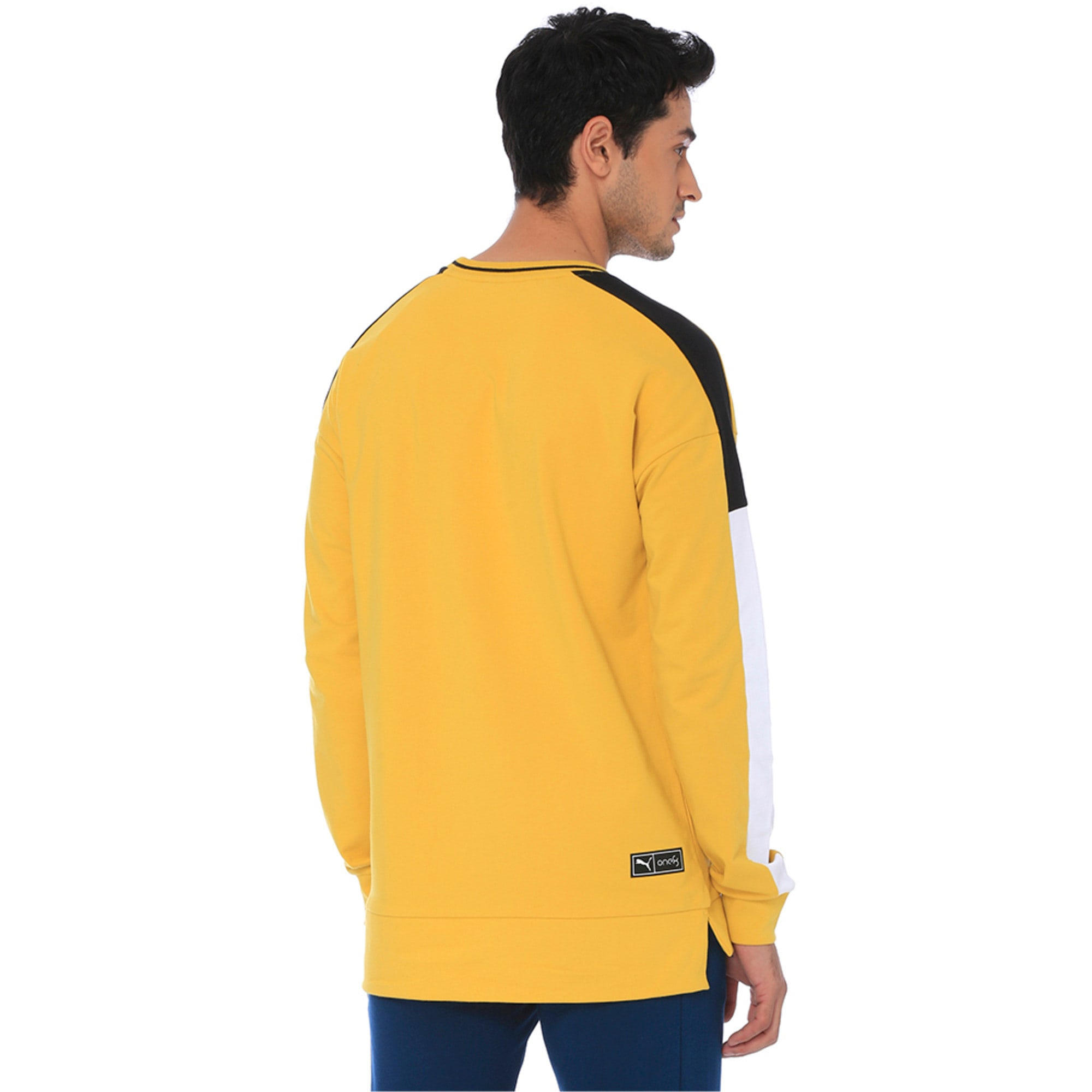 Thumbnail 5 of one8 Men's Crew Sweatshirt, Sulphur, medium-IND