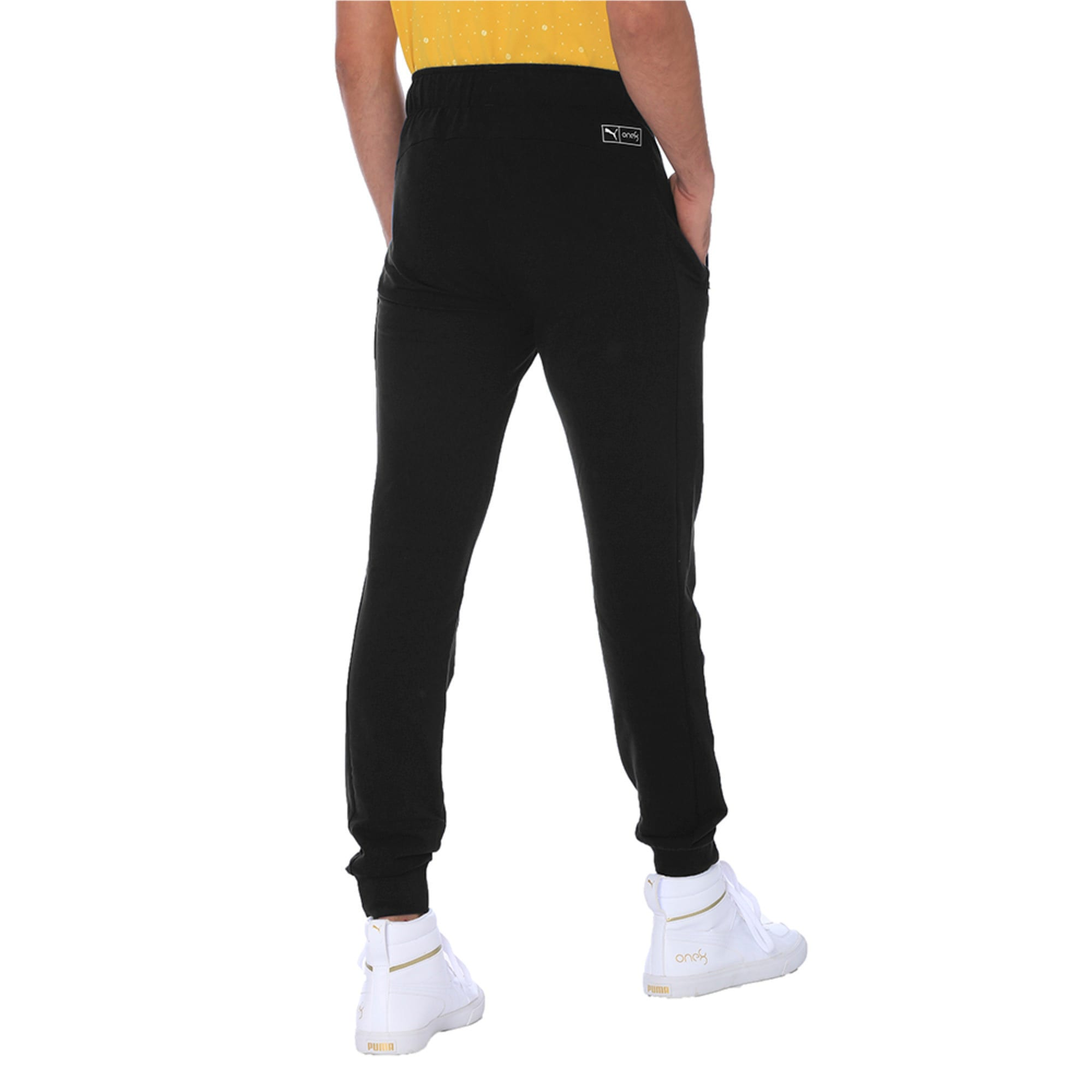 Thumbnail 5 of one8 Men's Knitted Pants, Puma Black, medium-IND