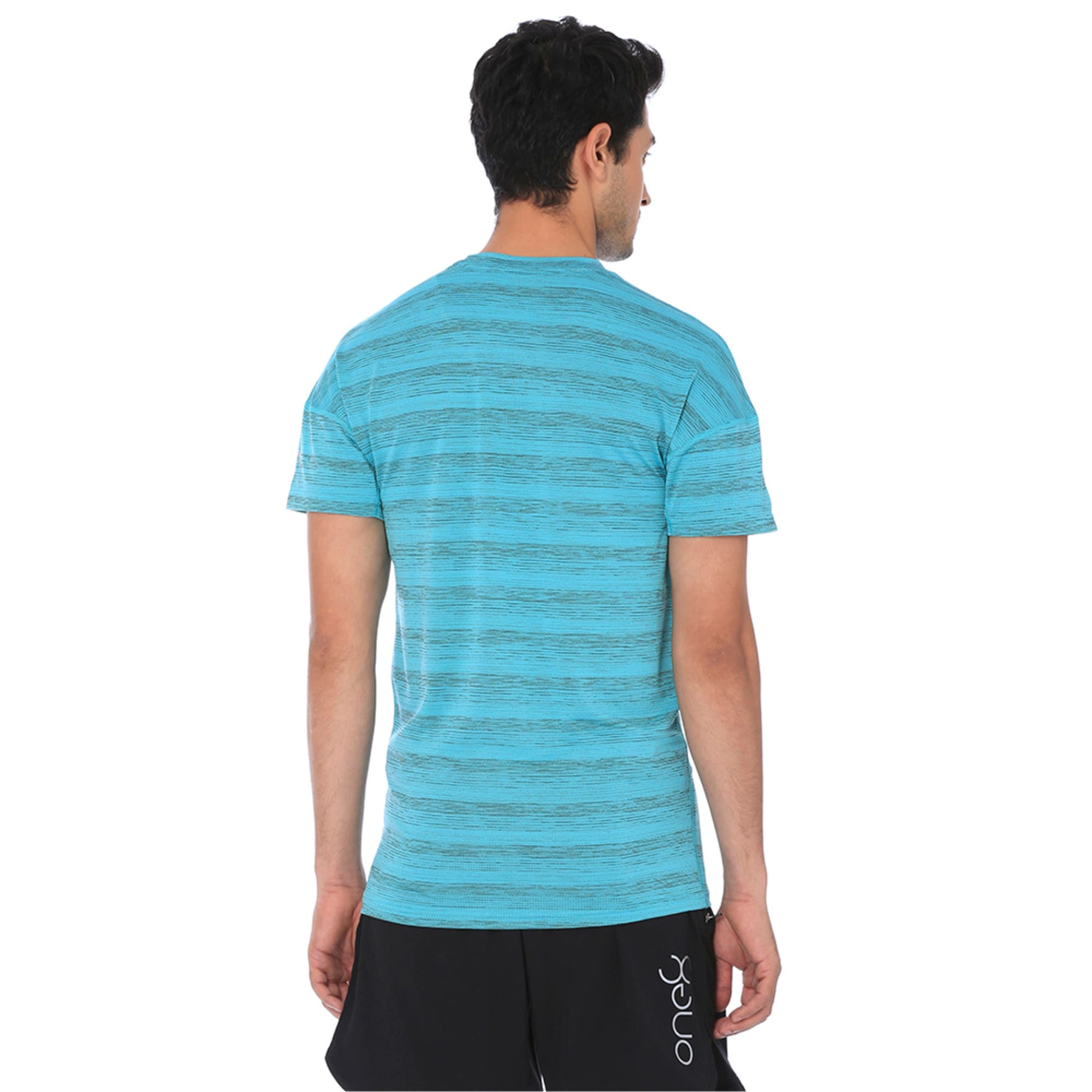 Thumbnail 5 of one8 Active Men's Printed Tee, Blue Turquoise Heather, medium-IND