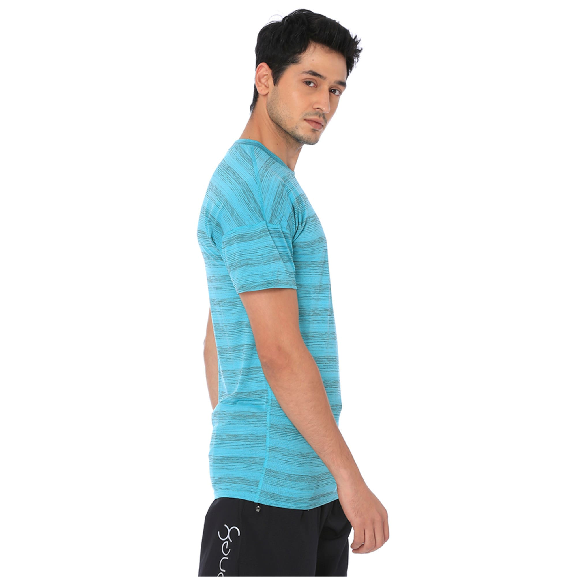 Thumbnail 2 of one8 Active Men's Printed Tee, Blue Turquoise Heather, medium-IND