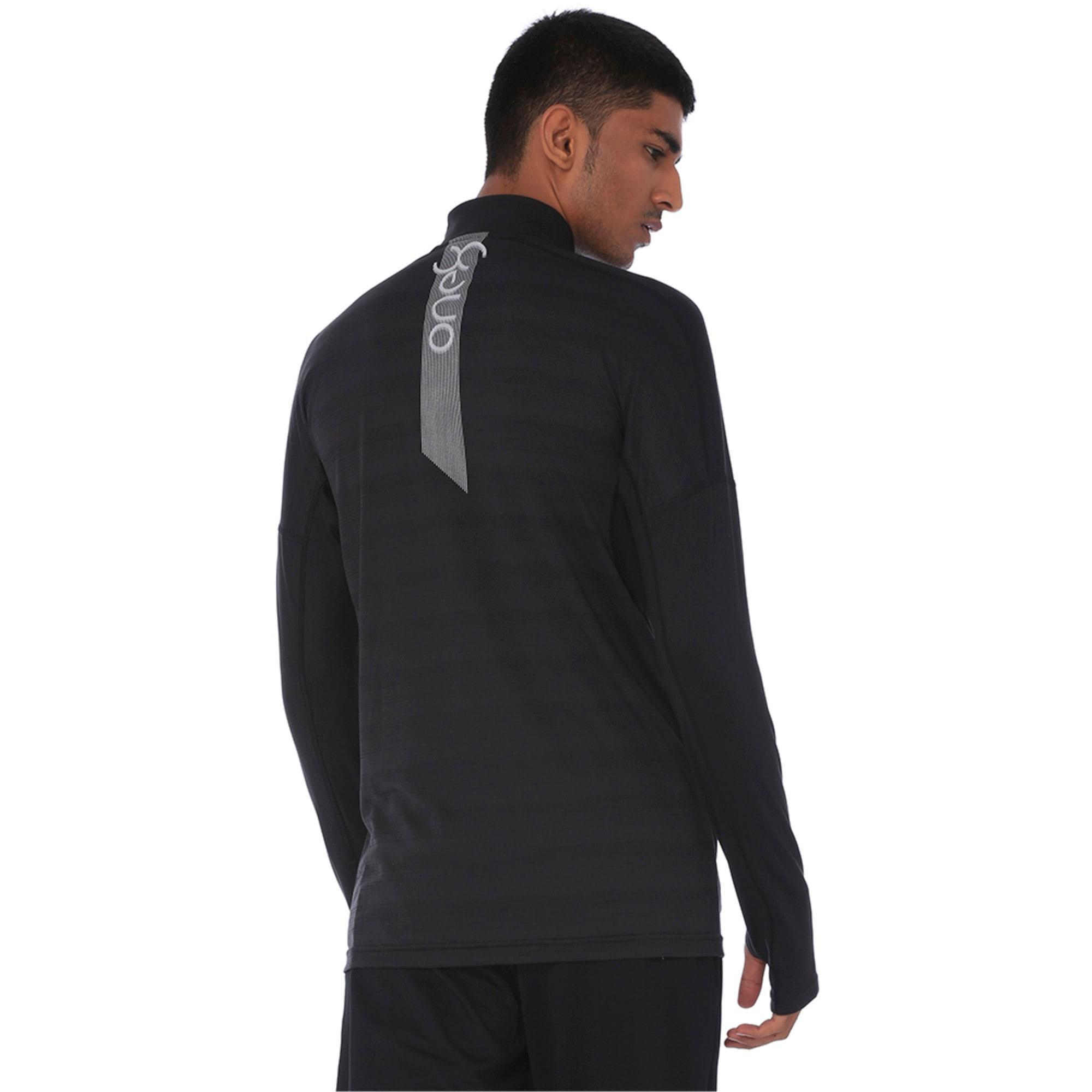 Thumbnail 5 of one8 VK Active Men's Full Zip Sweat Jacket, Puma Black, medium-IND
