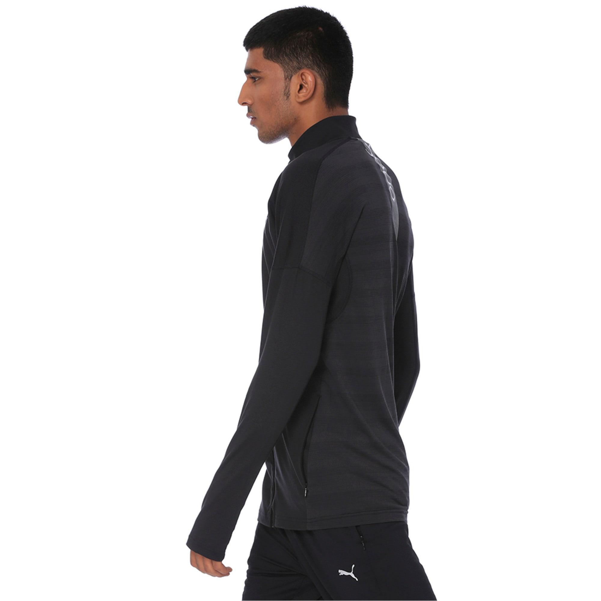 Thumbnail 3 of one8 VK Active Men's Full Zip Sweat Jacket, Puma Black, medium-IND