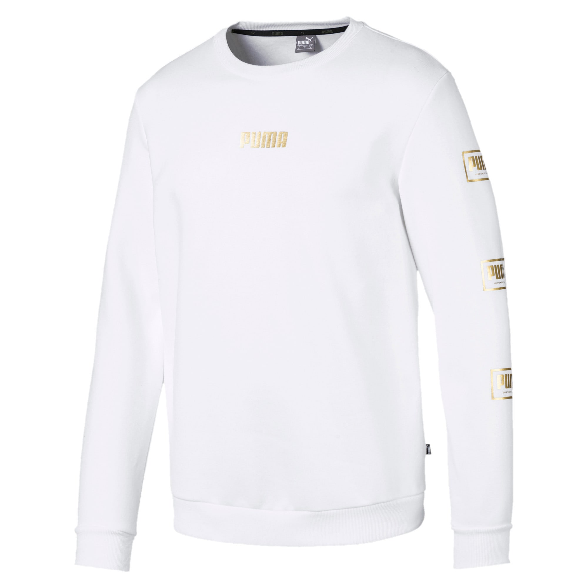 Thumbnail 1 of Holiday Pack Long Sleeve Men's Sweat Pullover, Puma White, medium-IND