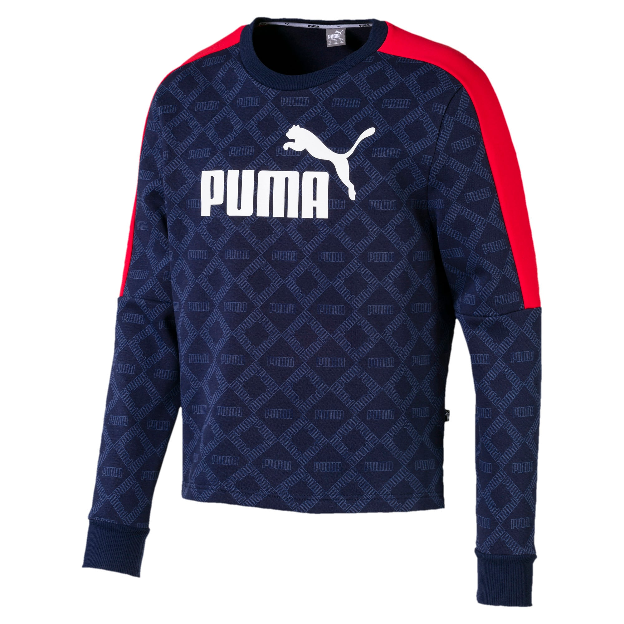 Thumbnail 1 of Logo Pack Graphic Long Sleeve Men's Pullover, Peacoat-AOP, medium-IND