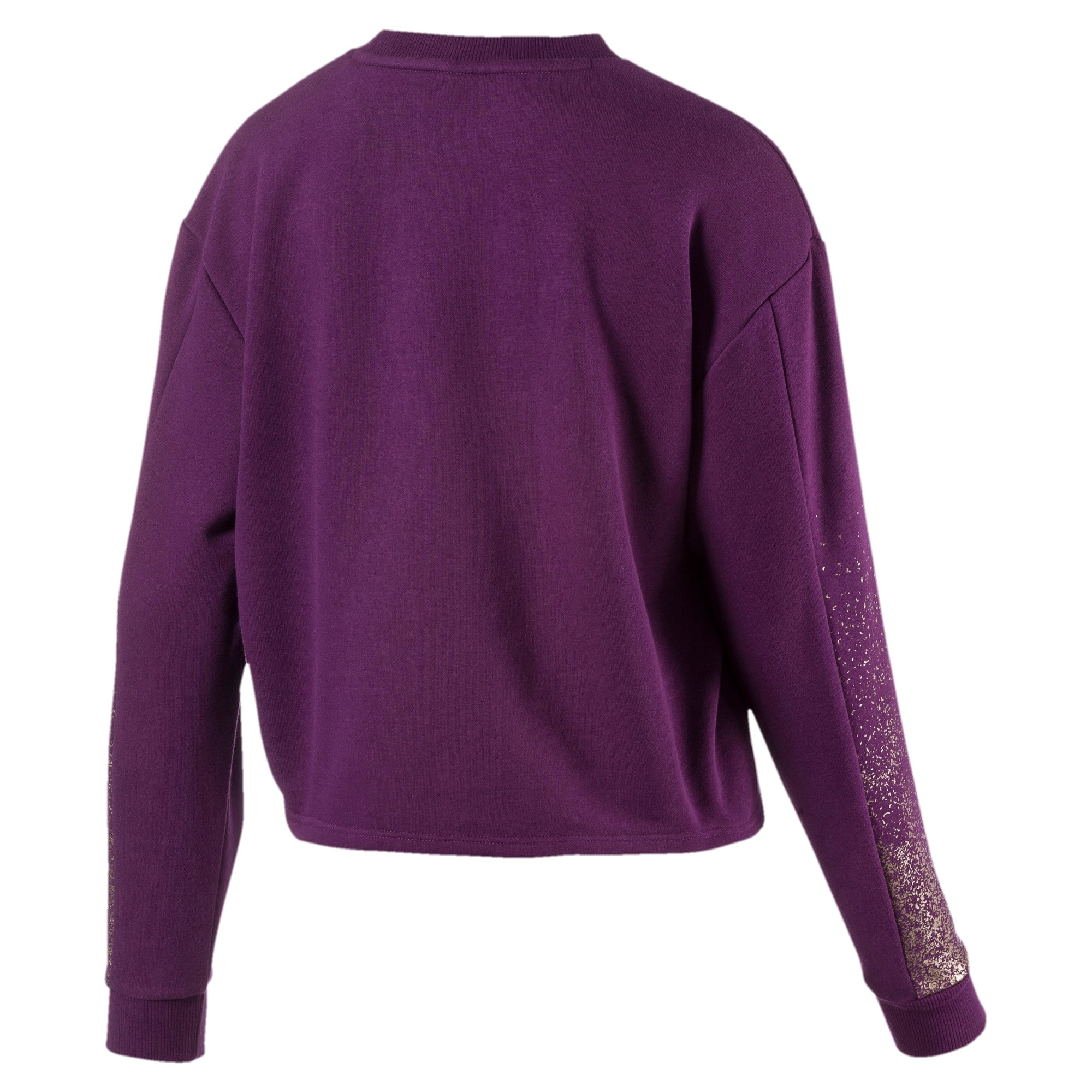 Thumbnail 2 of Holiday Pack Graphic Long Sleeve Women's Pullover, Plum Purple, medium-IND
