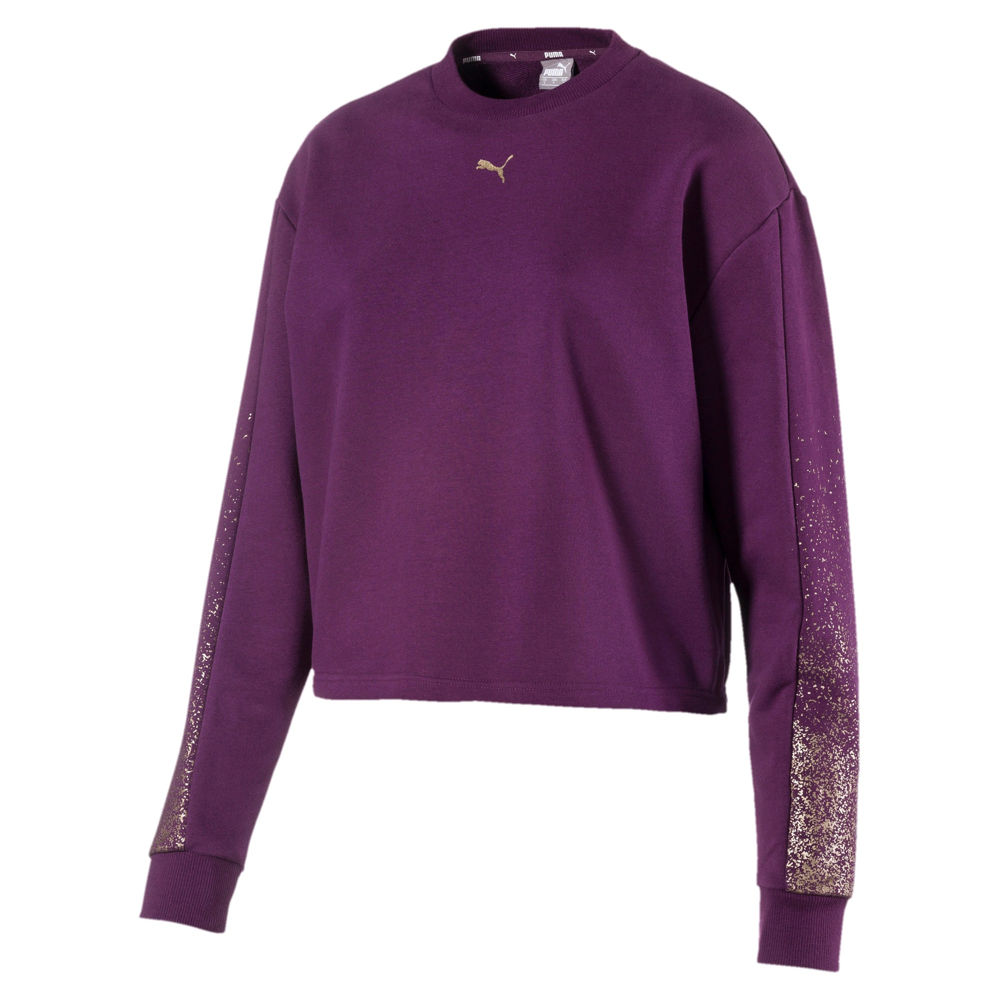 Thumbnail 1 of Holiday Pack Graphic Long Sleeve Women's Pullover, Plum Purple, medium-IND