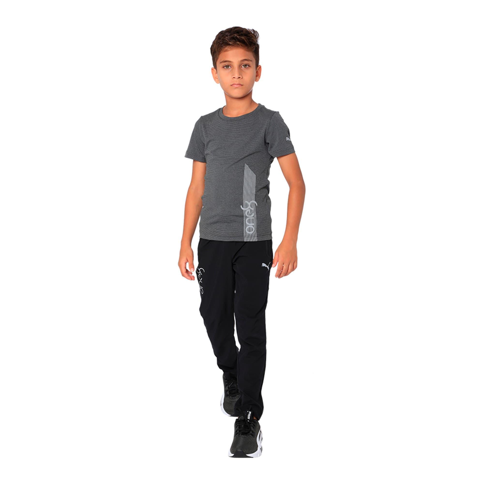 Thumbnail 3 of one8 VK Kids' Active Pants, Puma Black, medium-IND