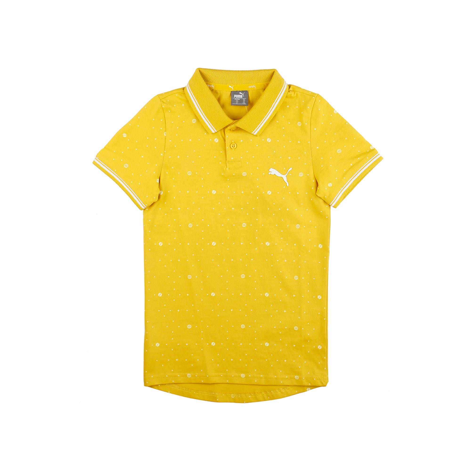 Thumbnail 4 of one8 VK AOP Kids' Printed Polo, Sulphur, medium-IND