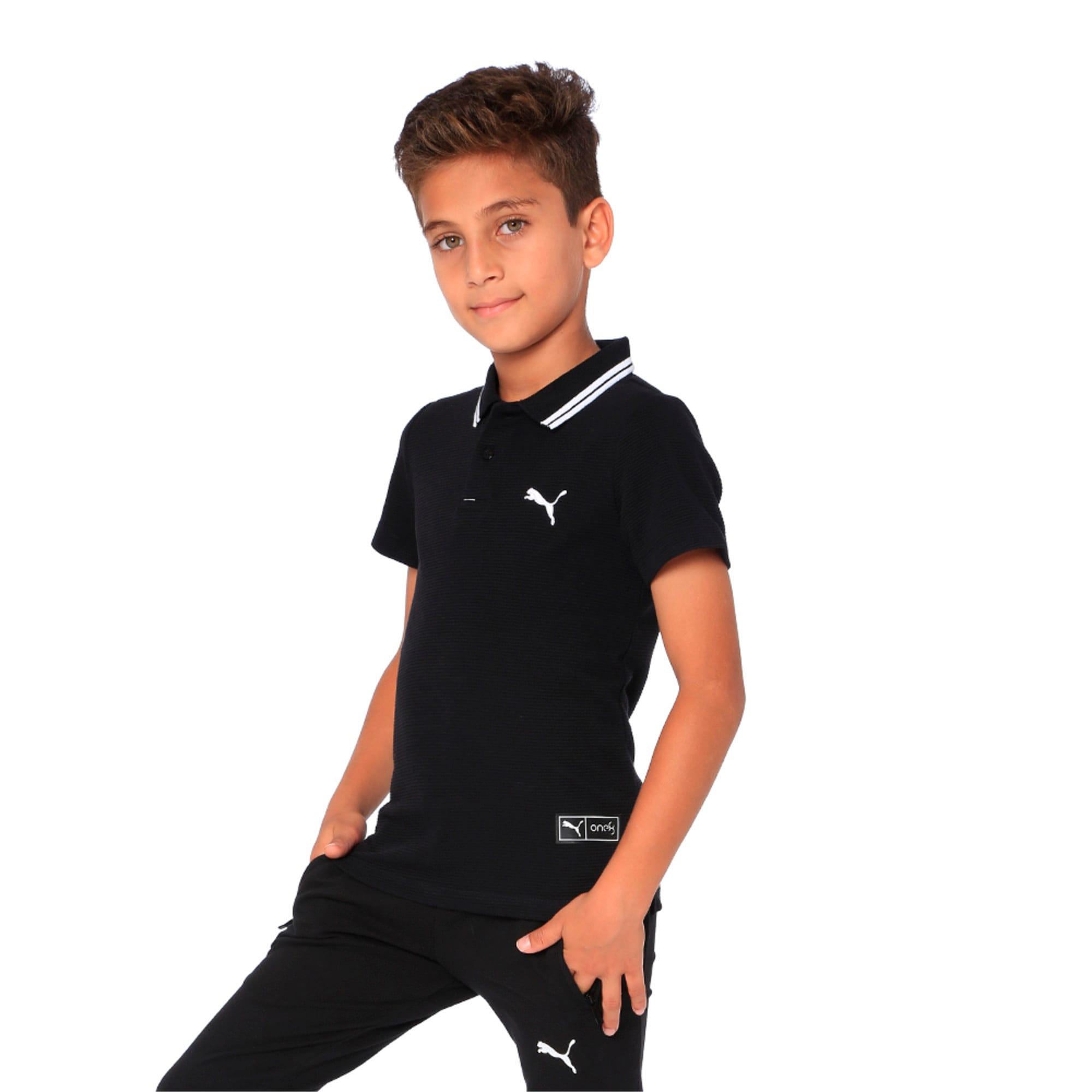 Thumbnail 4 of one8 VK Kids' Stylized Polo, Puma Black, medium-IND