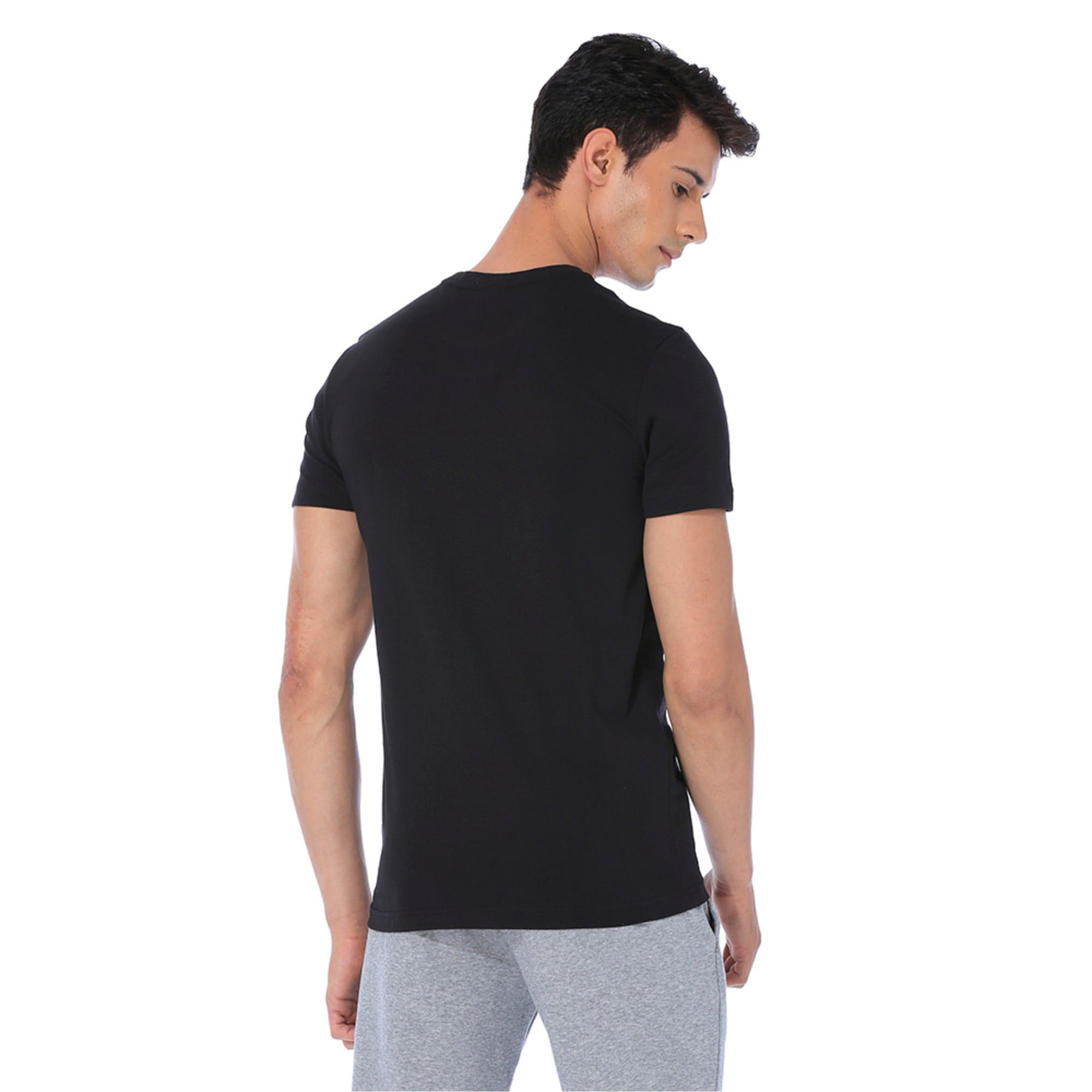 Thumbnail 5 of Men's Essentials Small Logo T-Shirt, Cotton Black, medium-IND