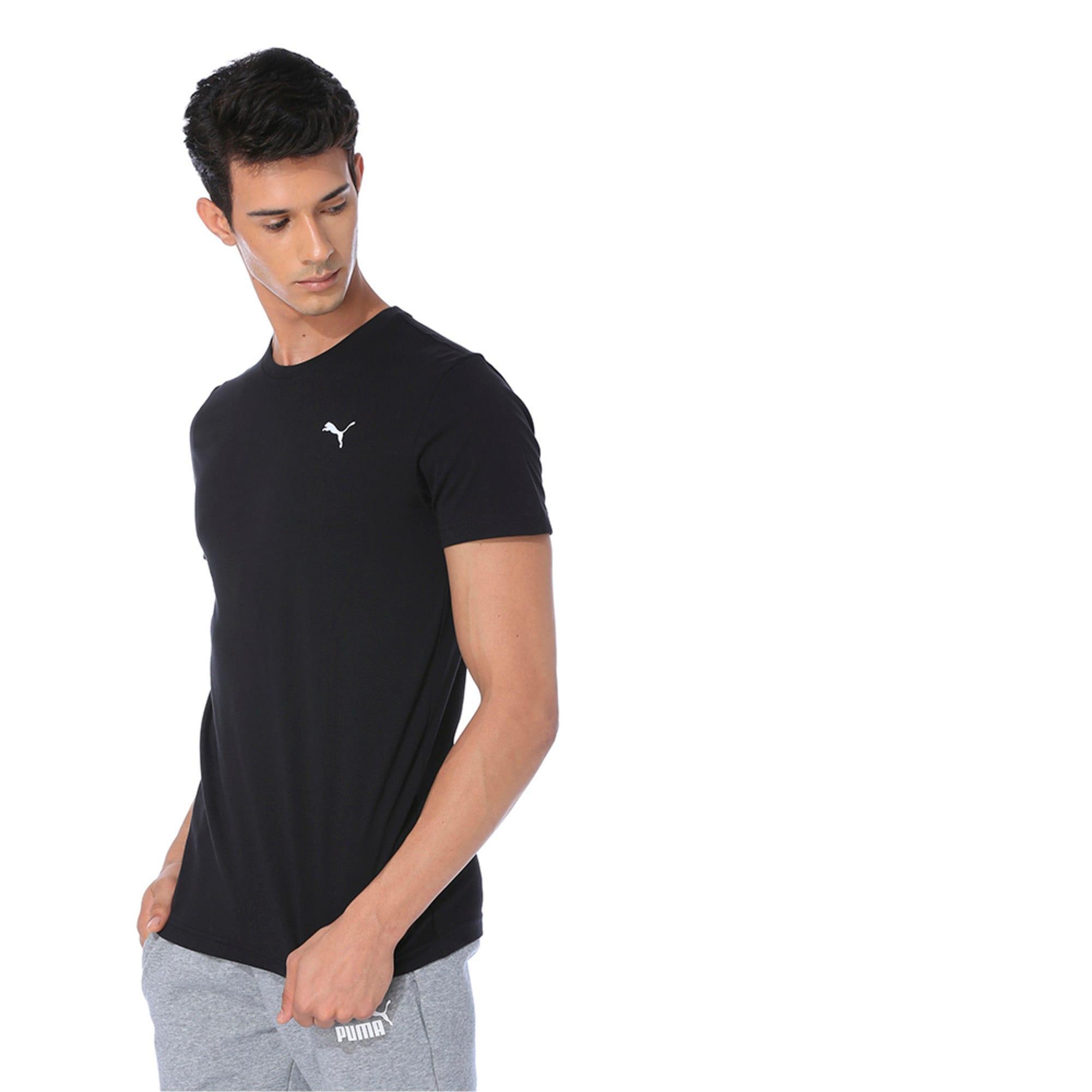Thumbnail 4 of Men's Essentials Small Logo T-Shirt, Cotton Black, medium-IND