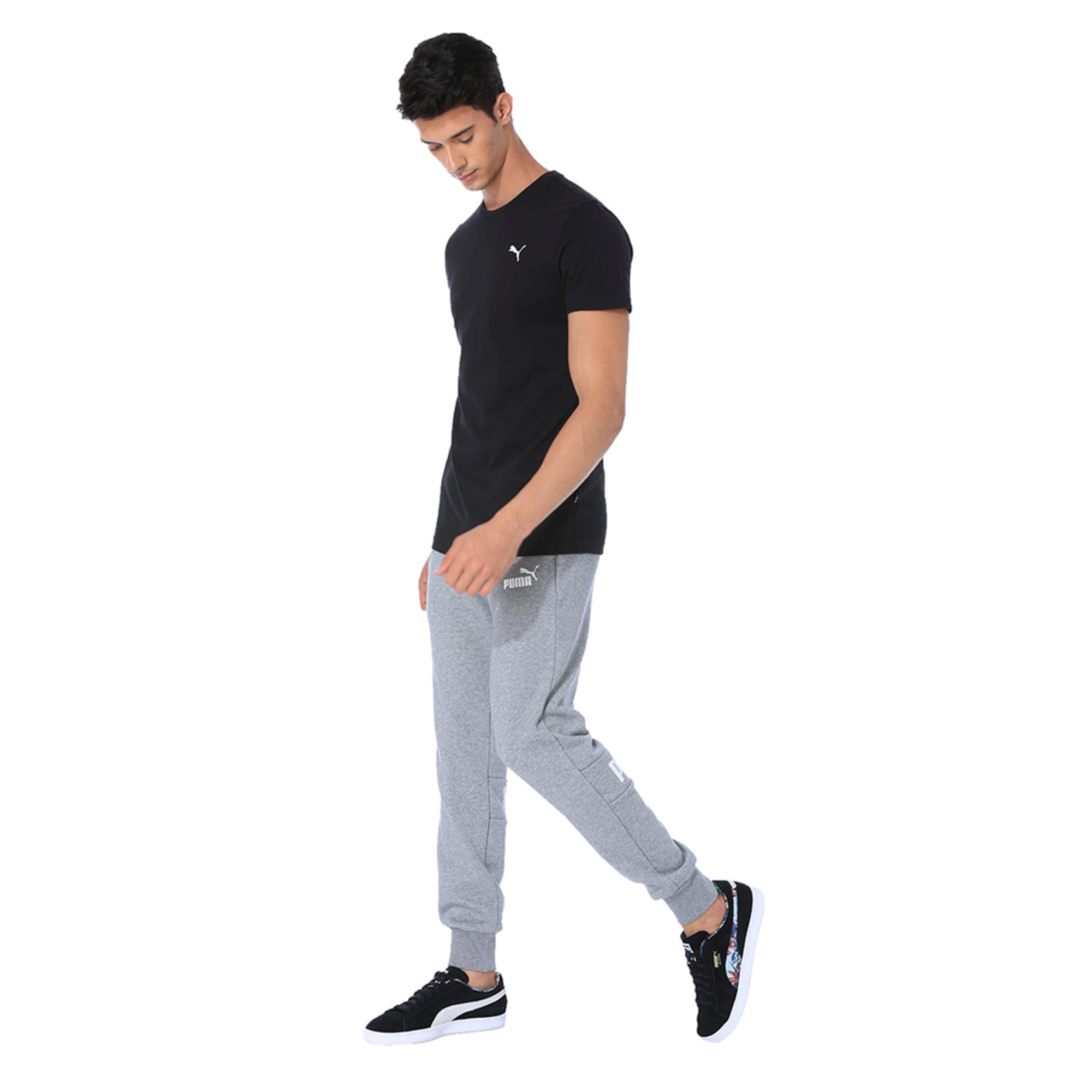 Thumbnail 1 of Men's Essentials Small Logo T-Shirt, Cotton Black, medium-IND