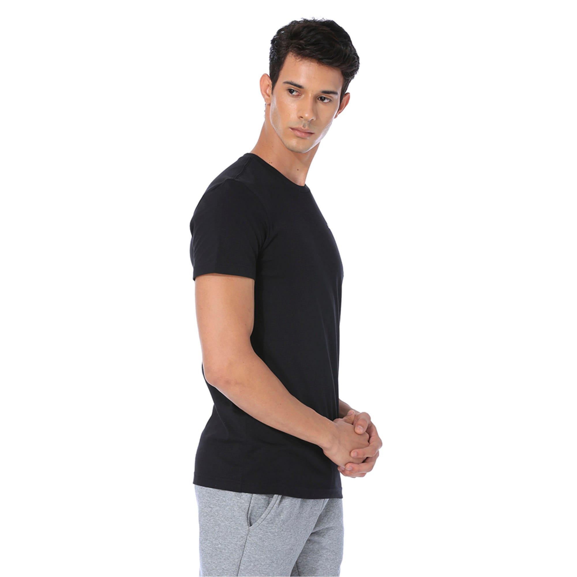 Thumbnail 2 of Men's Essentials Small Logo T-Shirt, Cotton Black, medium-IND