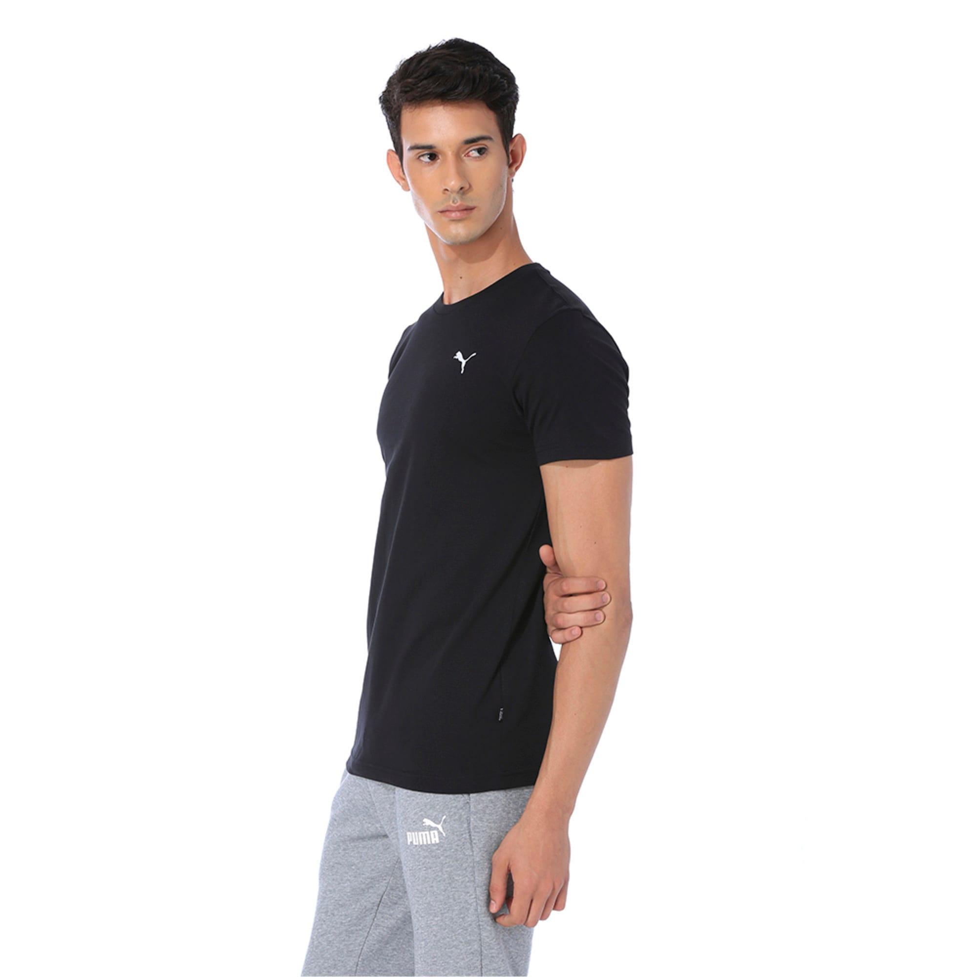 Thumbnail 3 of Men's Essentials Small Logo T-Shirt, Cotton Black, medium-IND
