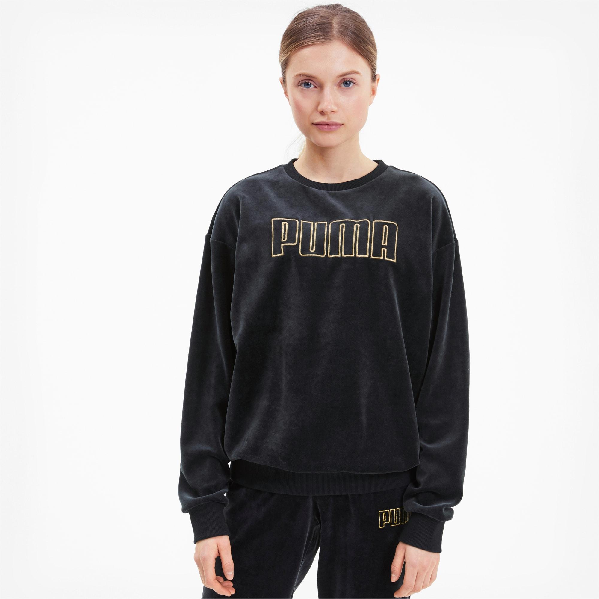 Modern Basics Women's Velour Crewneck Sweatshirt