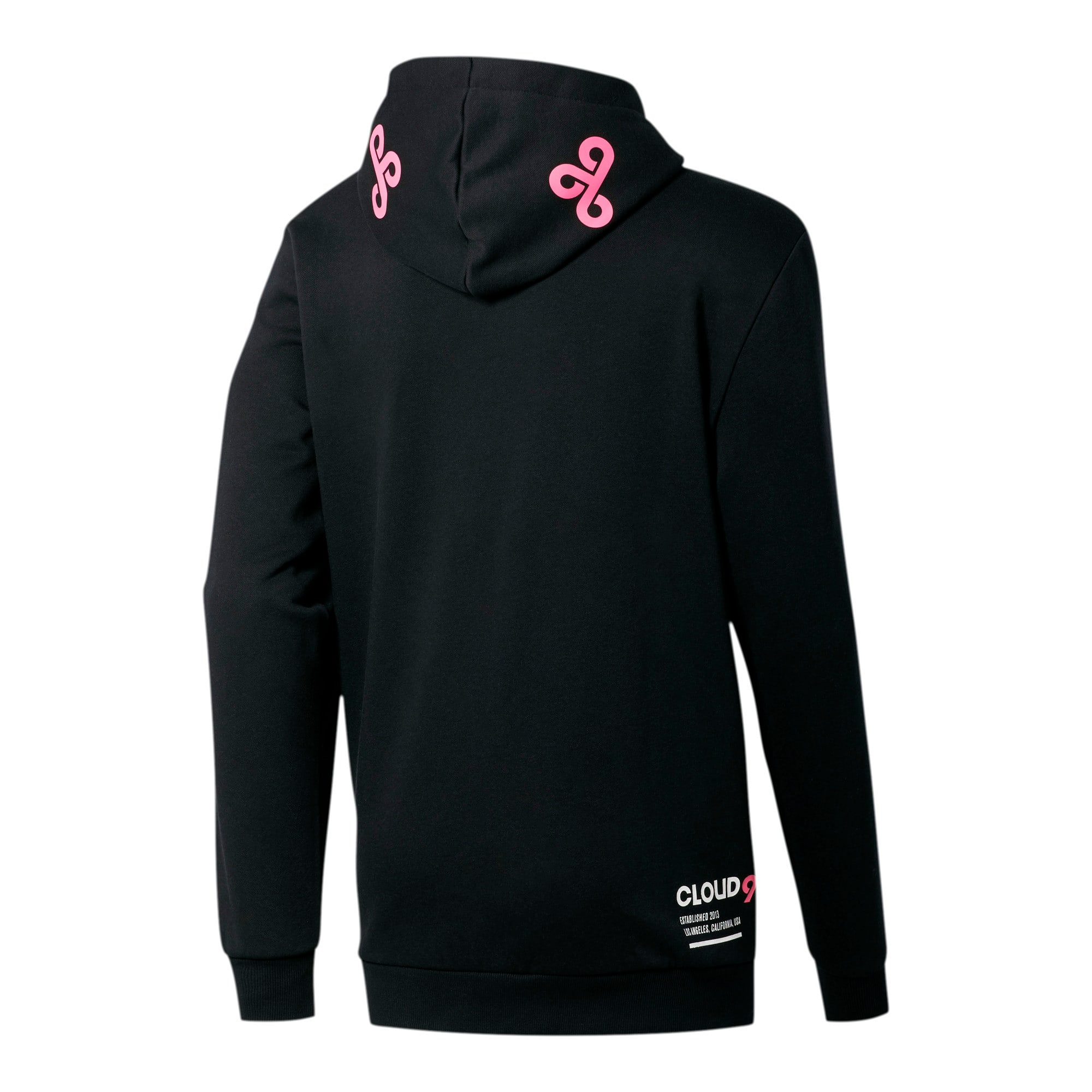 Thumbnail 2 of PUMA x CLOUD9 Simulation Men's Hoodie, Cotton Black-Azalea Pink, medium