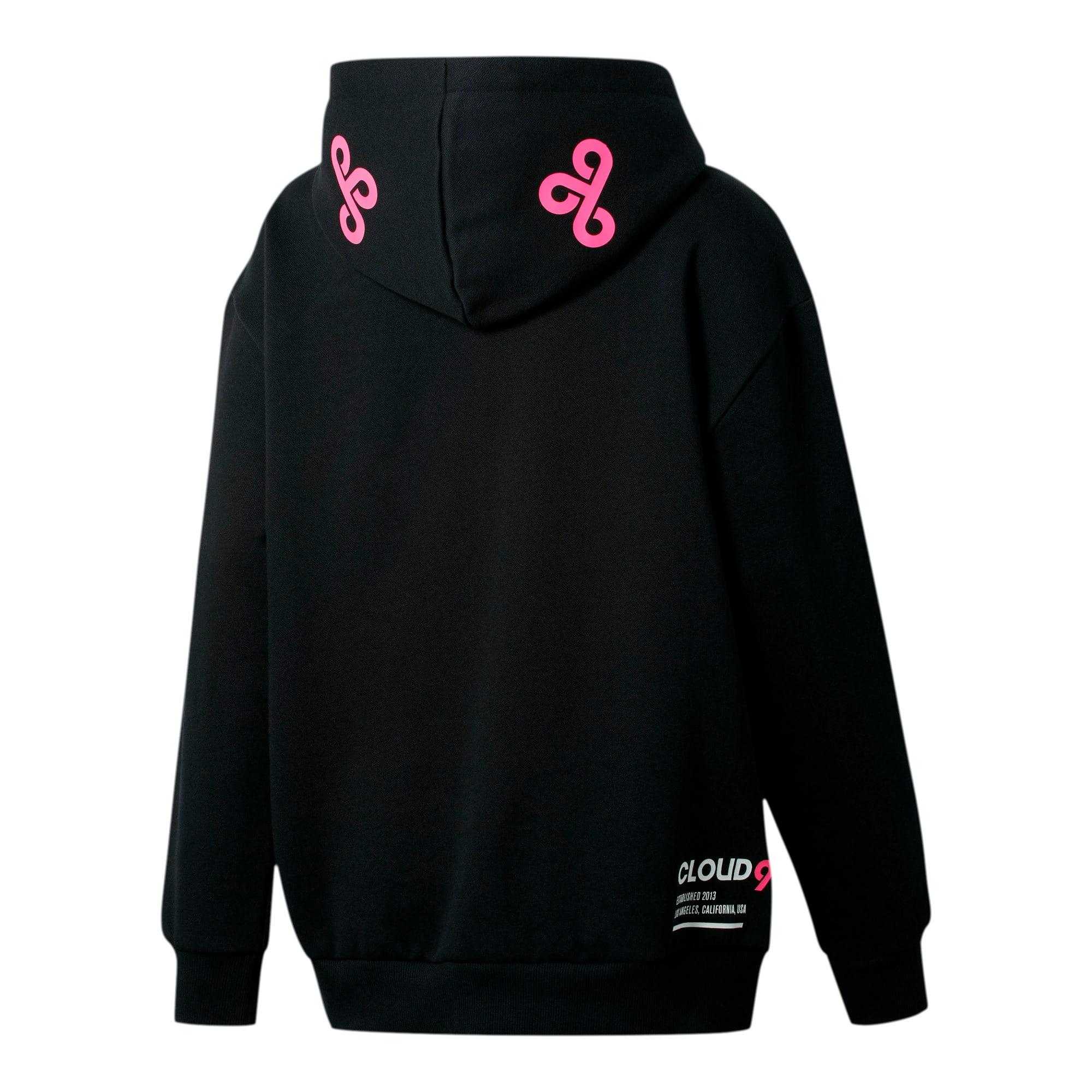 Miniatura 2 de Sudadera con capucha PUMA x CLOUD9 Simulation para mujer, Cotton Black-Azalea Pink, mediano