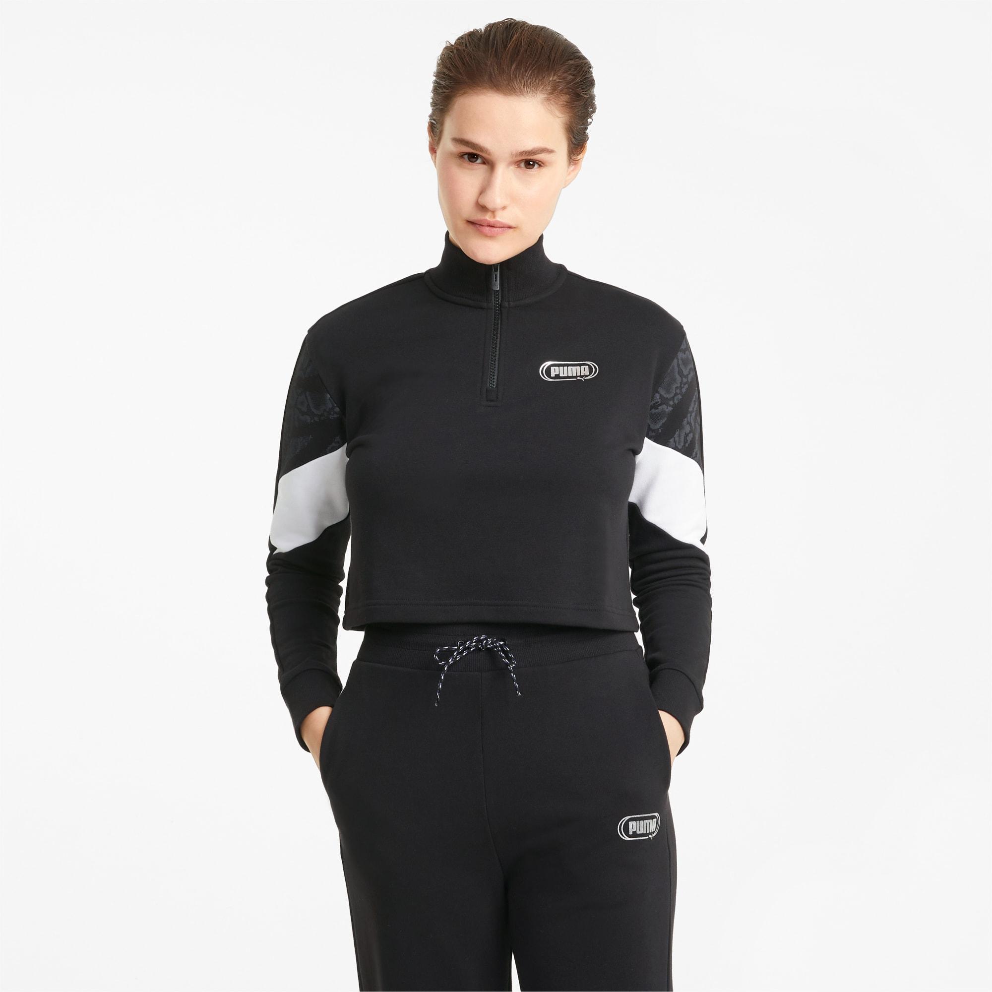 Rebel Women's Half Zip Crewneck Sweatshirt
