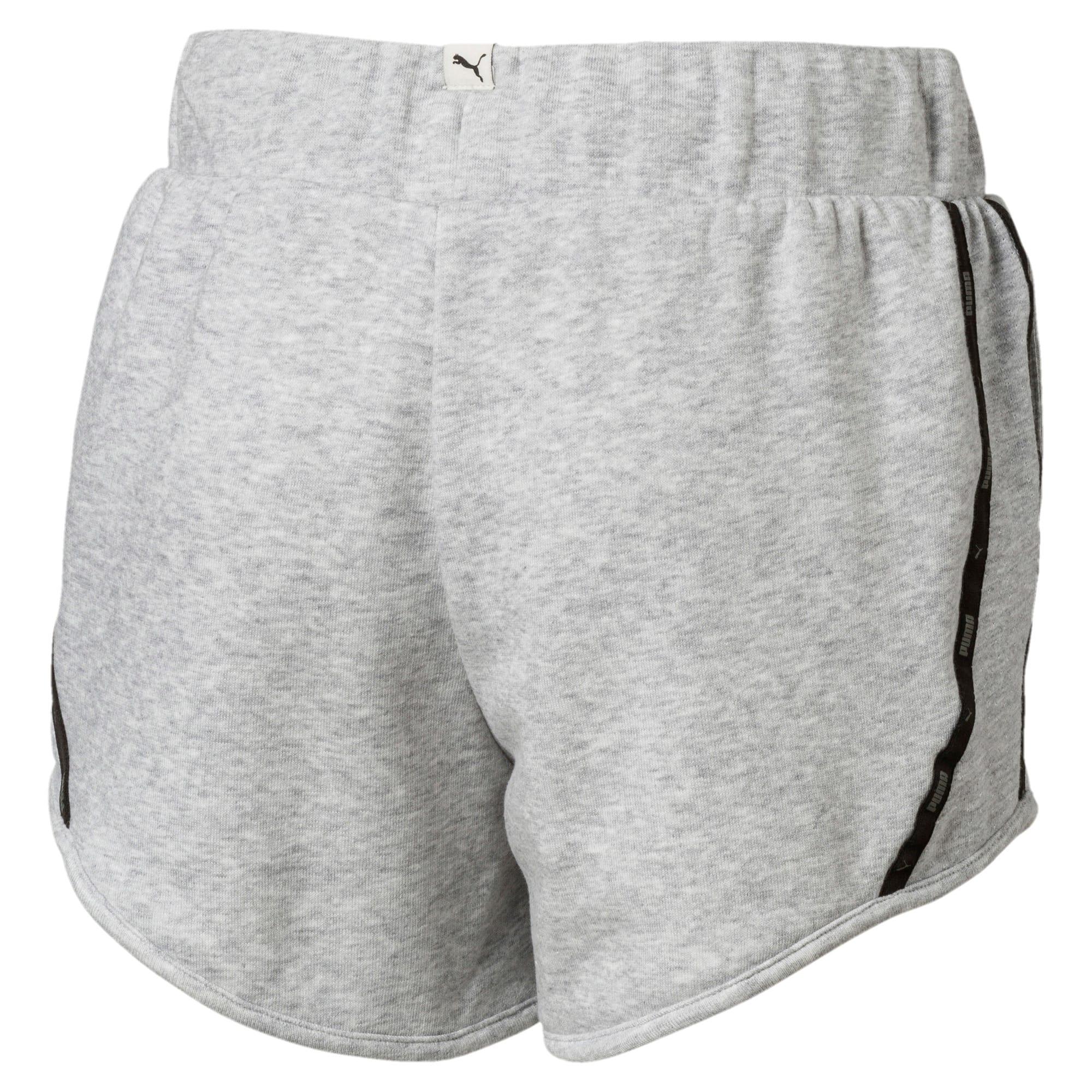 Thumbnail 2 of Girls' Sportstyle Sweat Shorts, Light Gray Heather, medium-IND