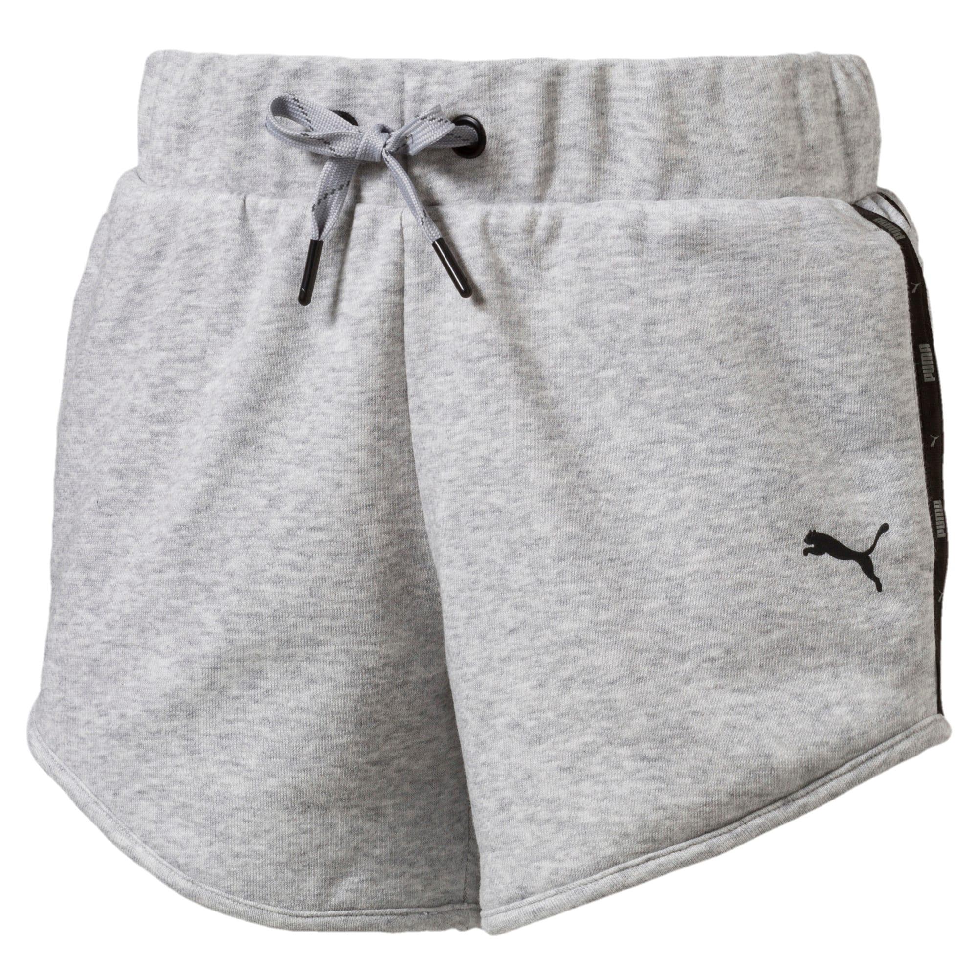 Thumbnail 1 of Girls' Sportstyle Sweat Shorts, Light Gray Heather, medium-IND