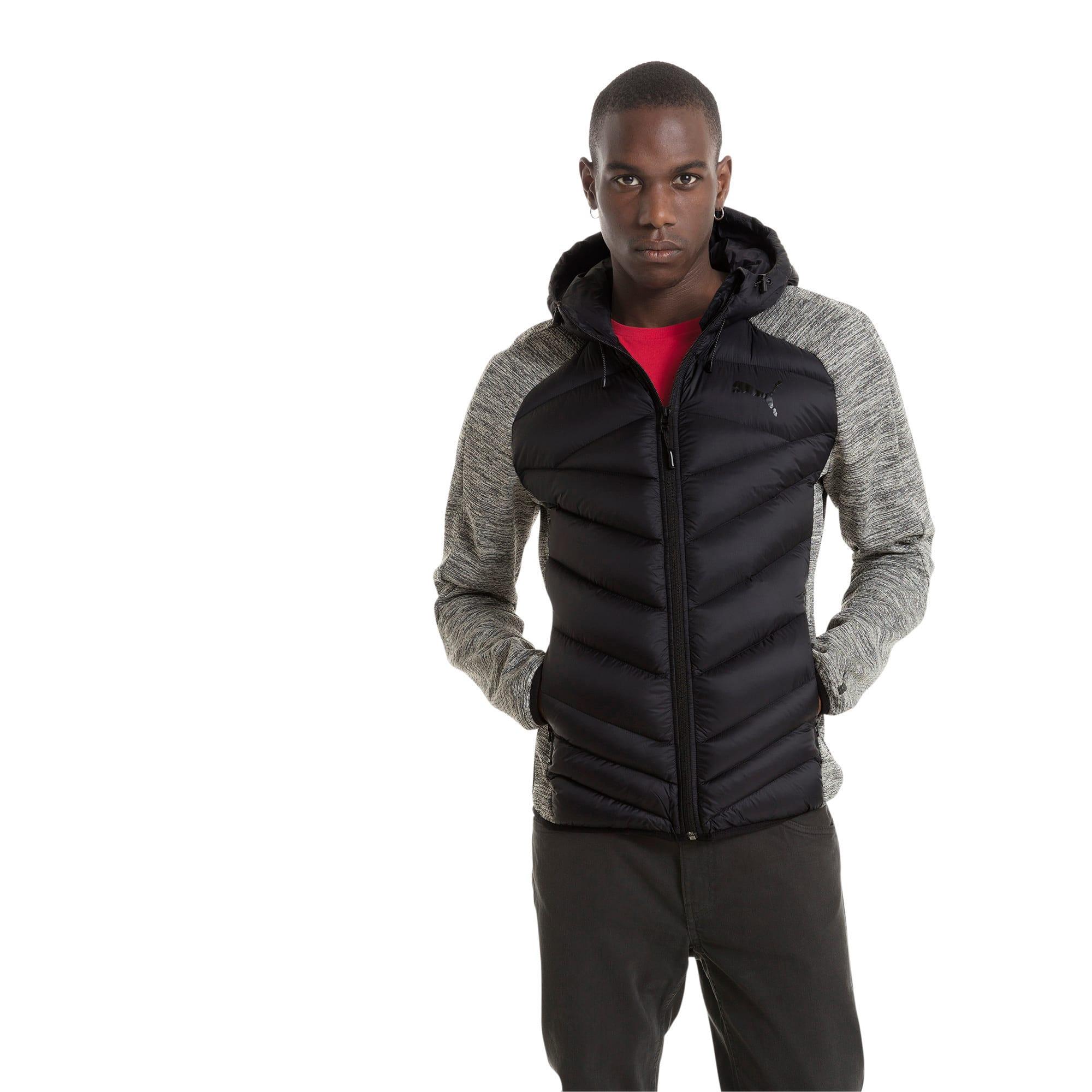 Thumbnail 1 of Double Knit Hybrid 600 Down Men's Jacket, MGH-Puma Black, medium-IND