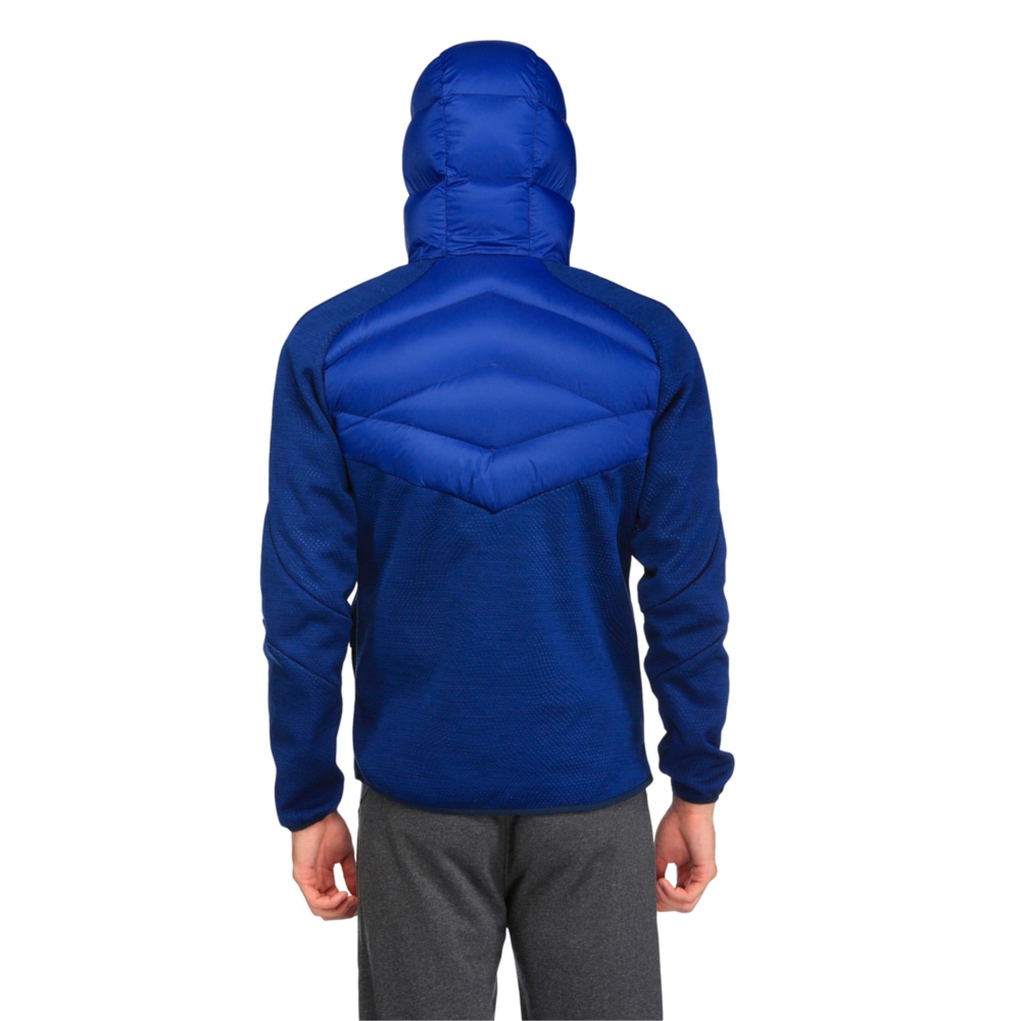 Thumbnail 5 of Double Knit Hybrid 600 Down Men's Jacket, Blue Heather-Blue Depths, medium-IND