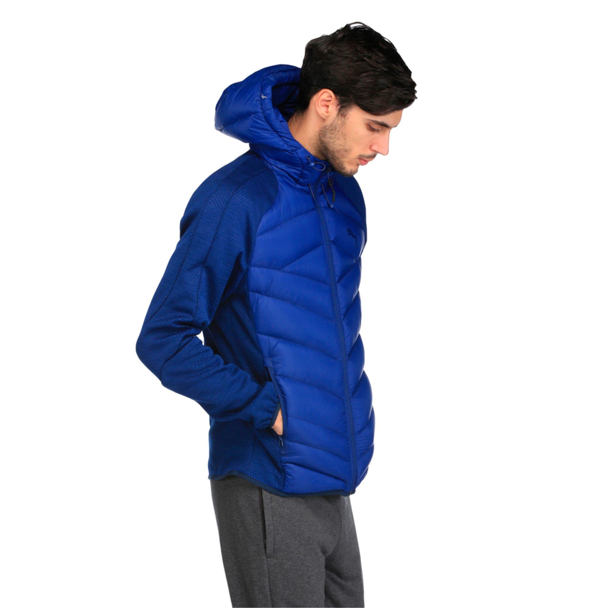 Thumbnail 3 of Double Knit Hybrid 600 Down Men's Jacket, Blue Heather-Blue Depths, medium-IND