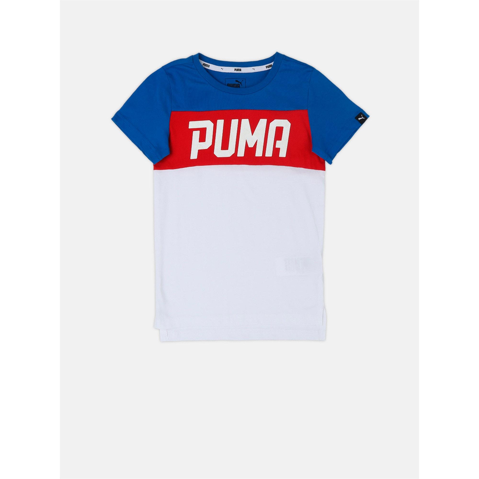 Thumbnail 2 of Boys' T-Shirt, Puma White, medium-IND