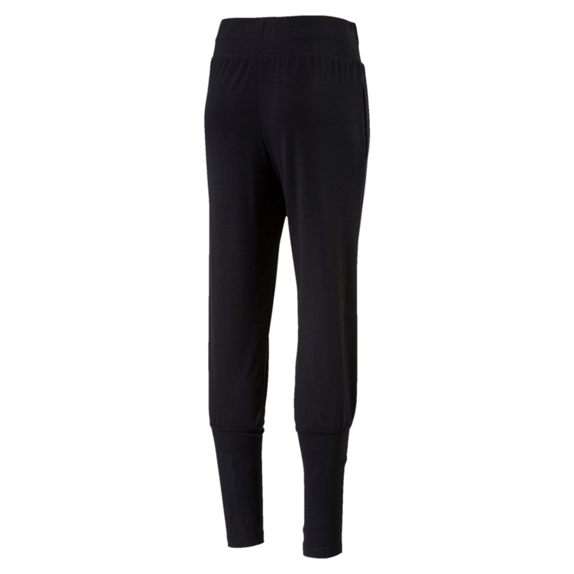 Thumbnail 2 of Girls' Softsport Jersey Pants, Puma Black, medium-IND