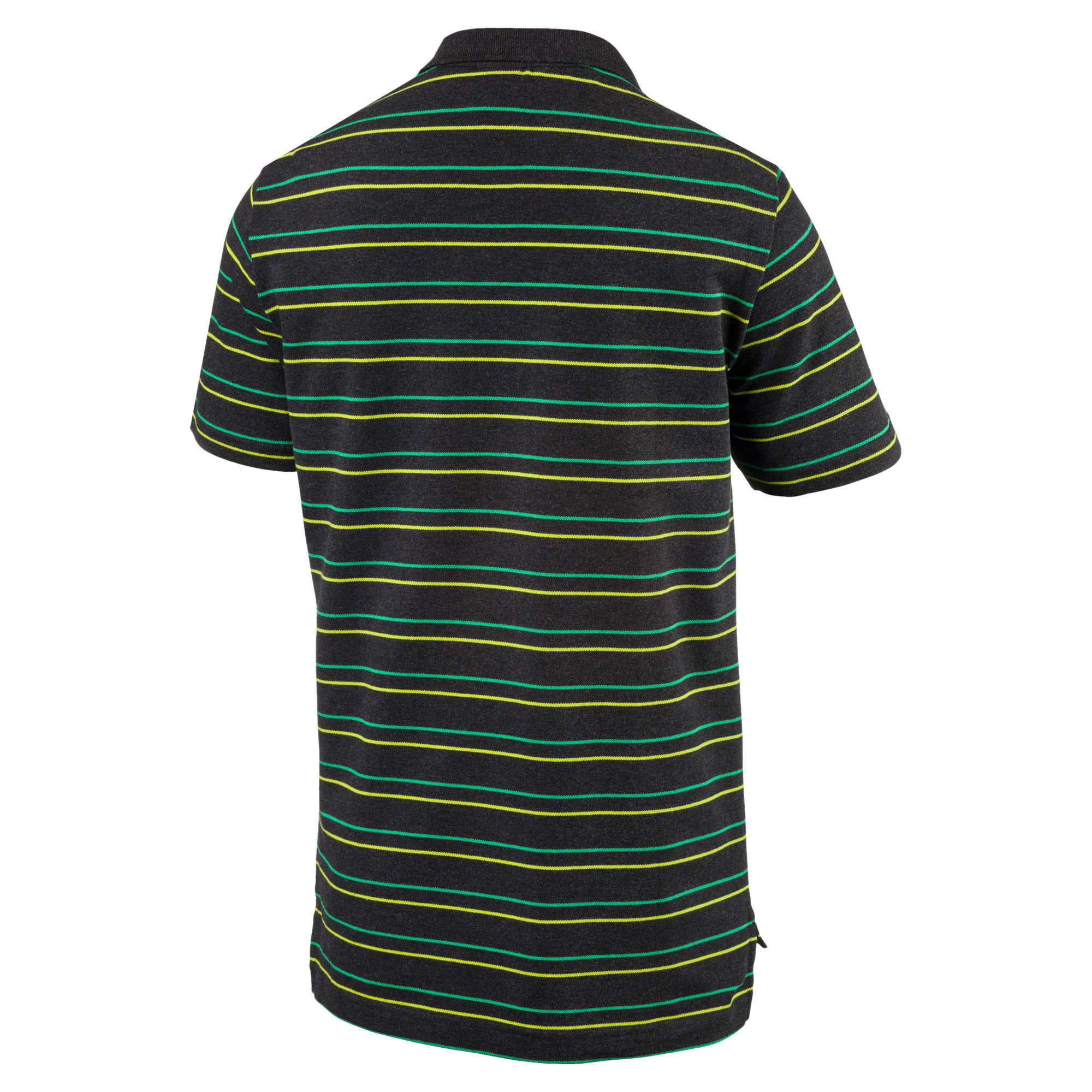Thumbnail 5 of Sports Stripe Pique Polo, Dark Gray Heather, medium-IND