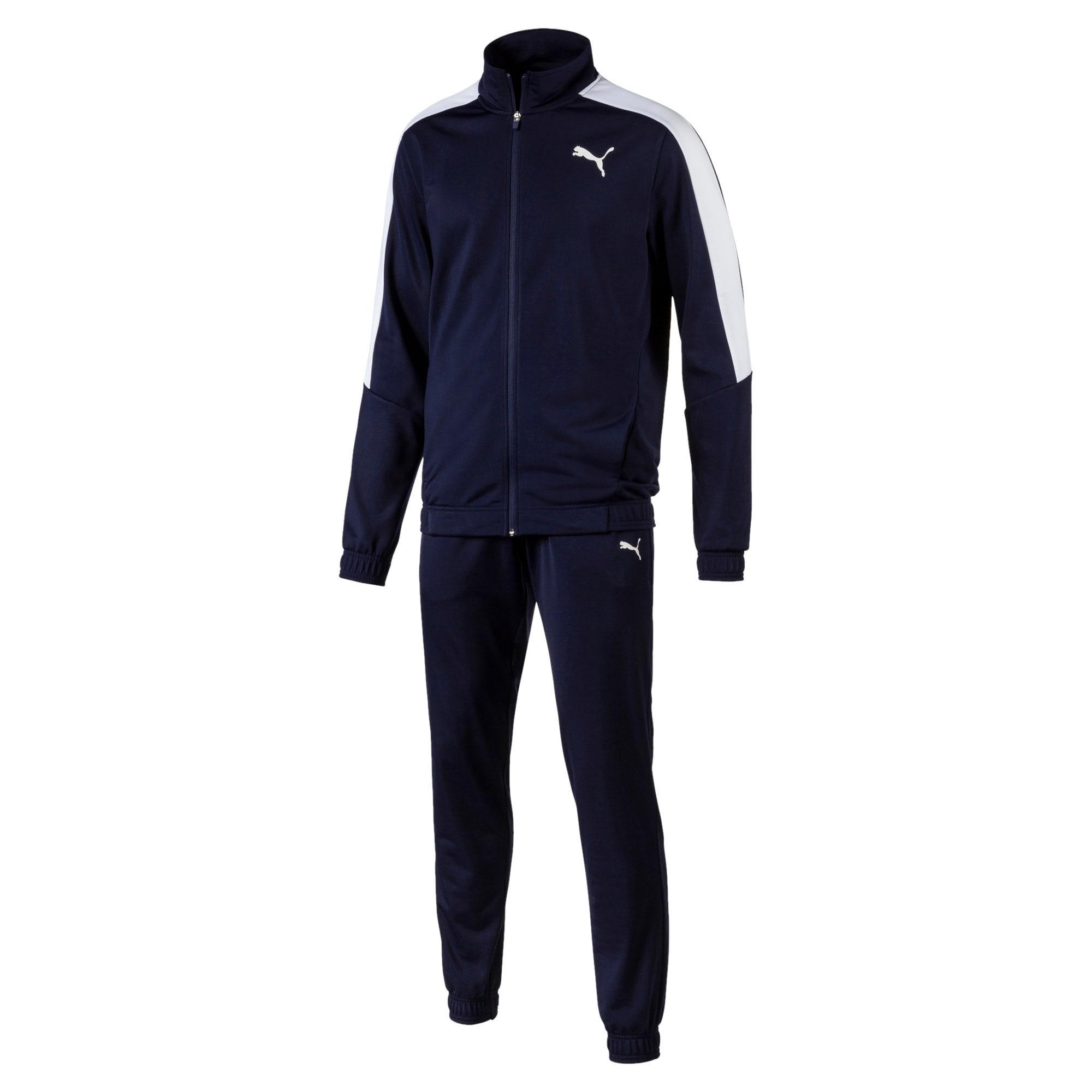 Thumbnail 1 of Classic Tricot Men's Track Suit, Peacoat-Puma White, medium-IND