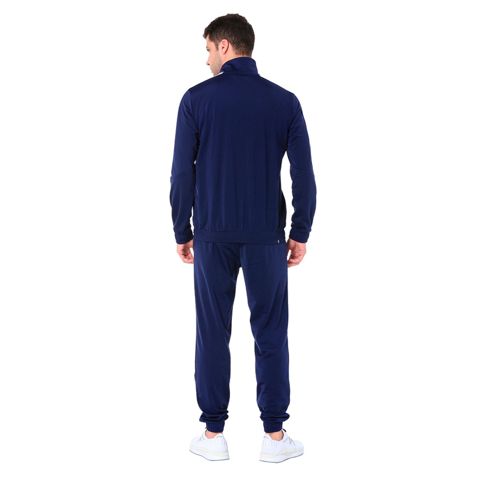 Thumbnail 3 of Classic Tricot Men's Track Suit, Peacoat-Puma White, medium-IND