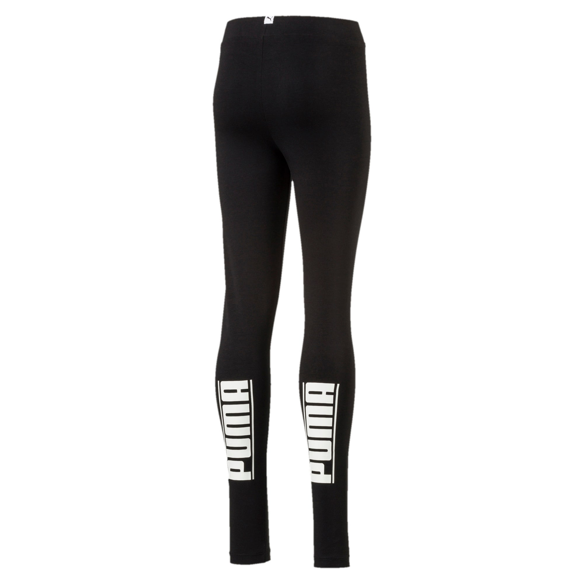 Thumbnail 2 of Girls' Style Leggings, Cotton Black, medium-IND