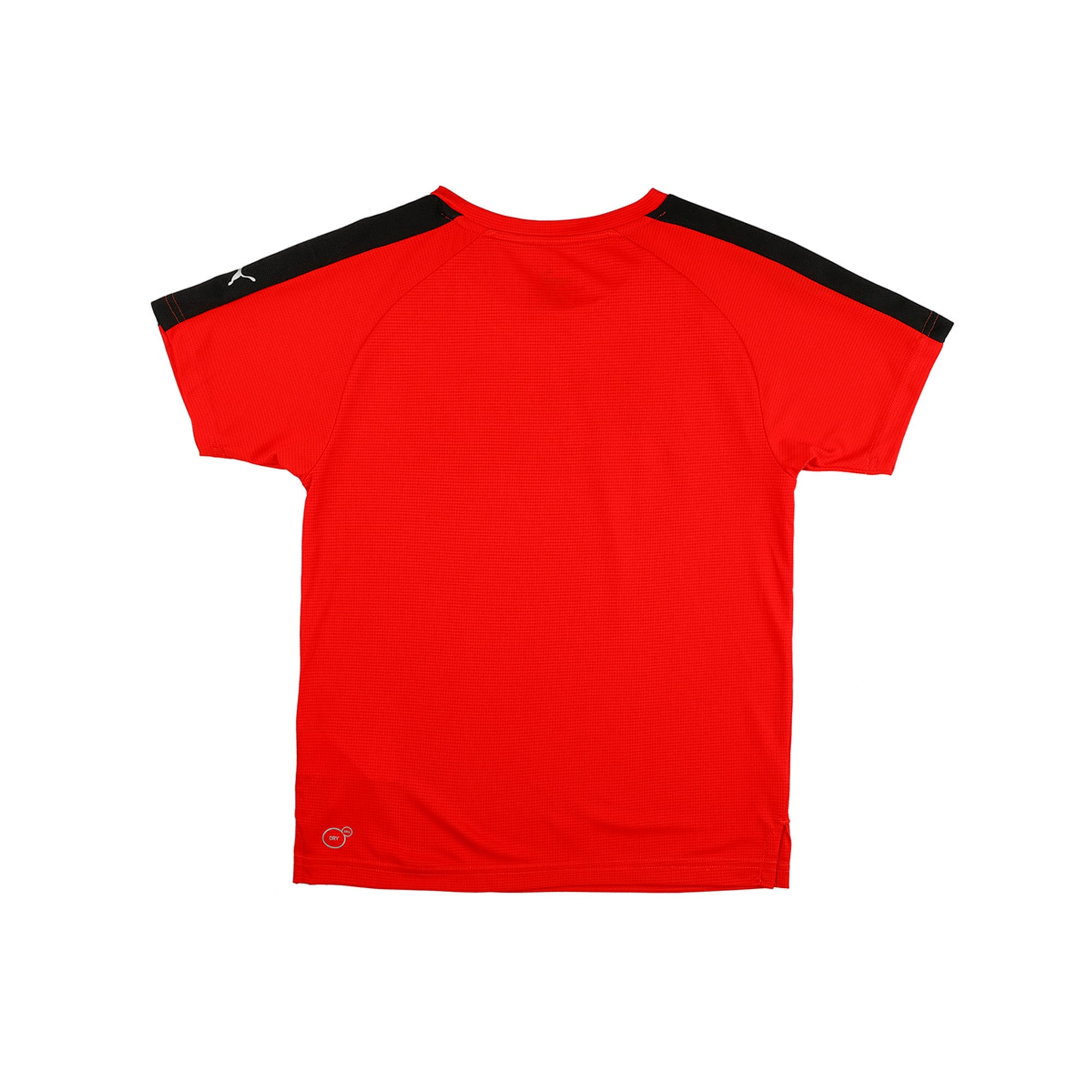 Thumbnail 3 of Gym Graphic Tee Puma Black, Flame Scarlet, medium-IND