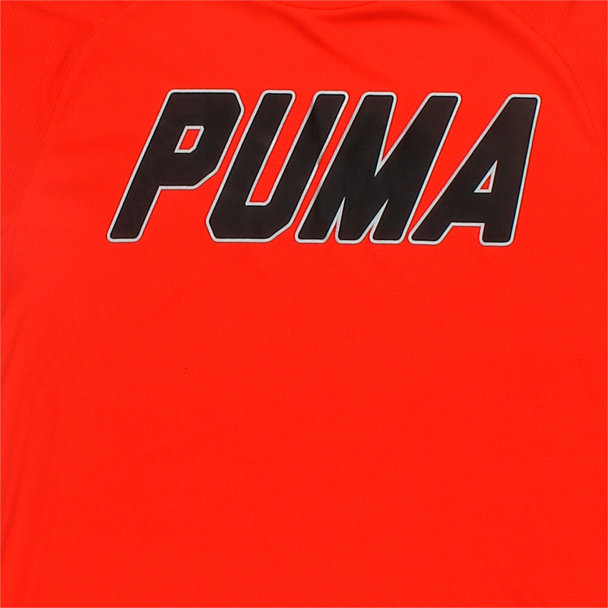 Thumbnail 1 of Gym Graphic Tee Puma Black, Flame Scarlet, medium-IND