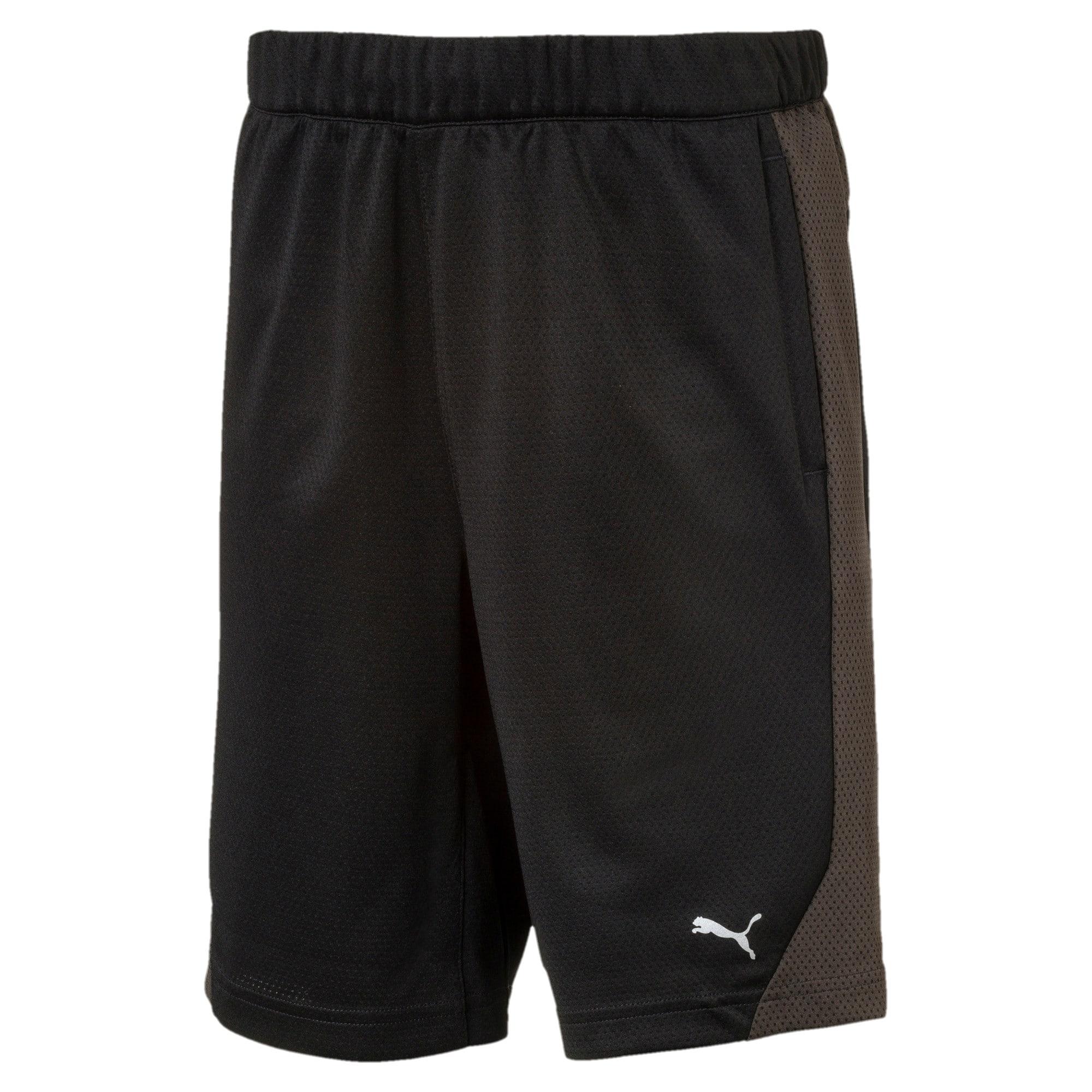 Thumbnail 1 of Boys' Gym Shorts, Puma Black, medium-IND