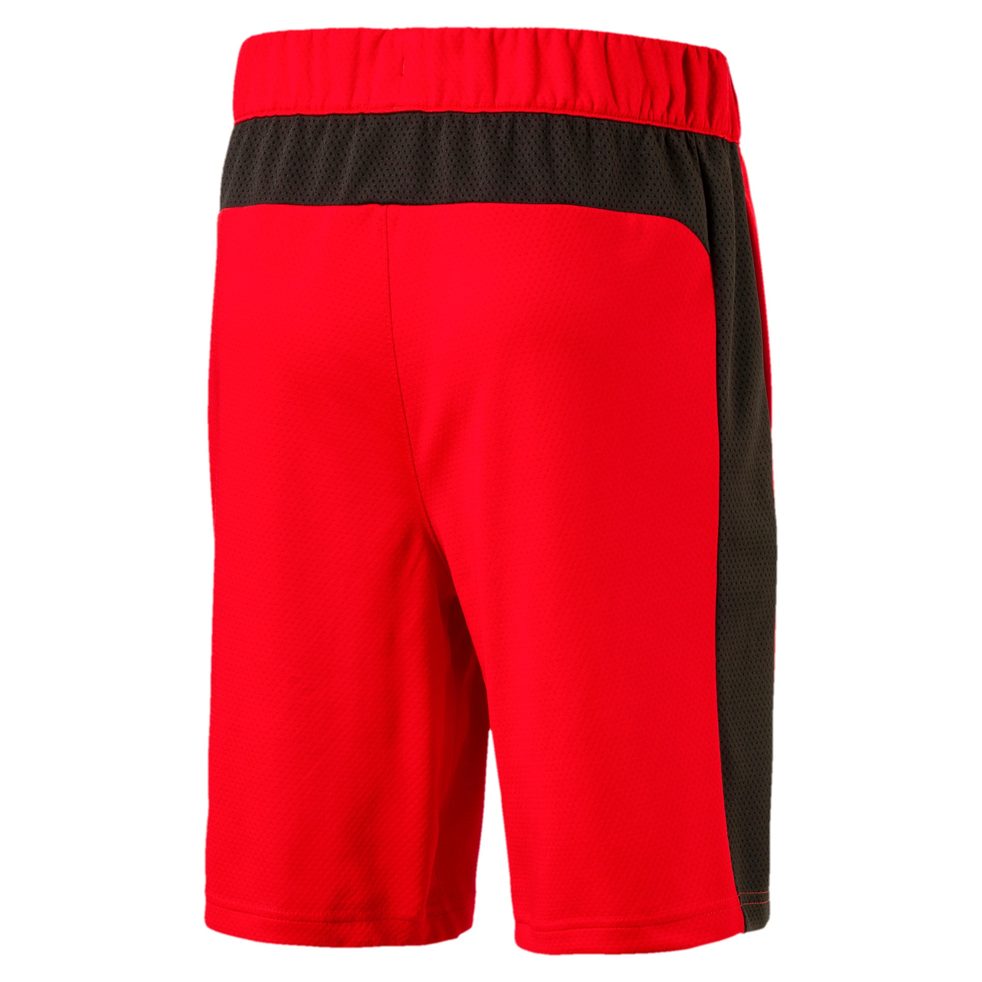 Thumbnail 2 of Boys' Gym Shorts, Flame Scarlet, medium-IND